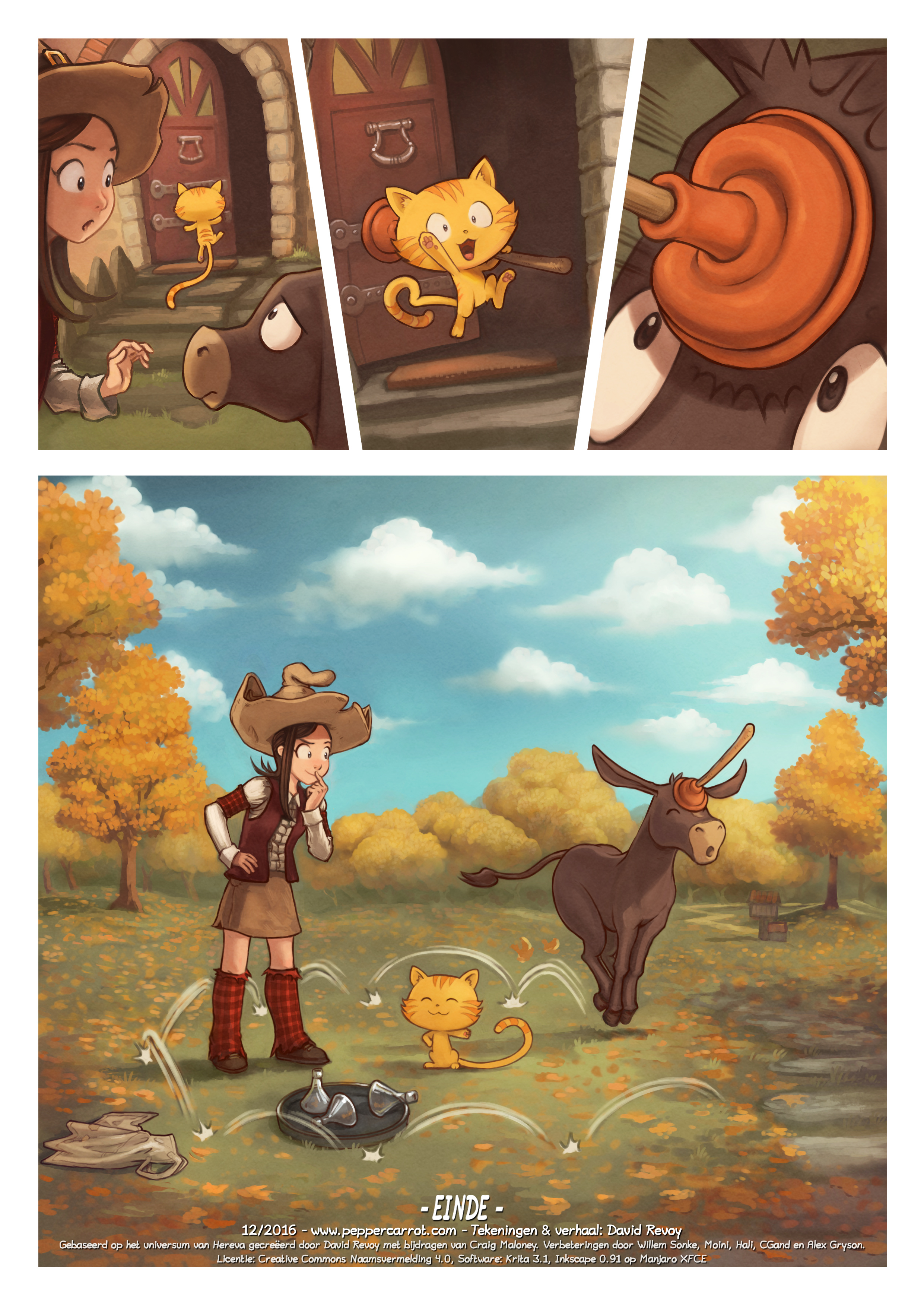 A webcomic page of Pepper&Carrot, aflevering 20 [nl], pagina 6