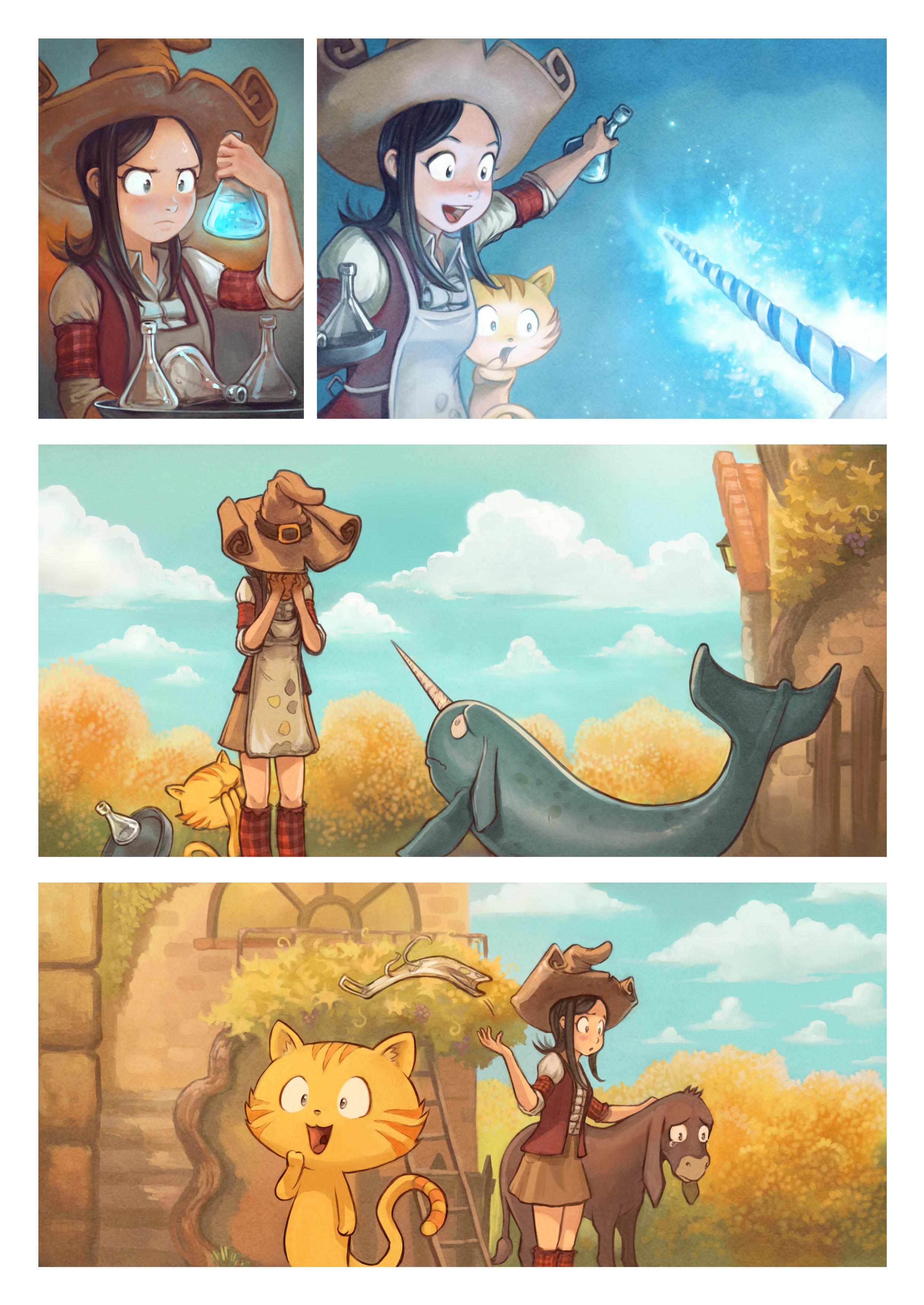 A webcomic page of Pepper&Carrot, episódio 20 [pt], página 5