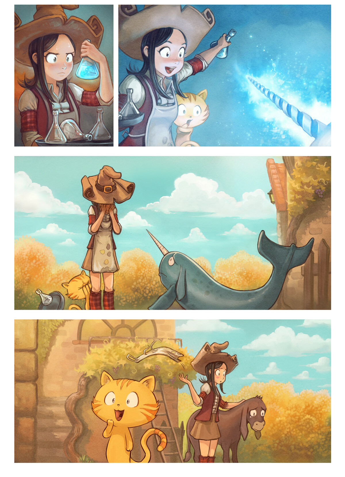 A webcomic page of Pepper&Carrot, rann 20 [br], pajenn 5