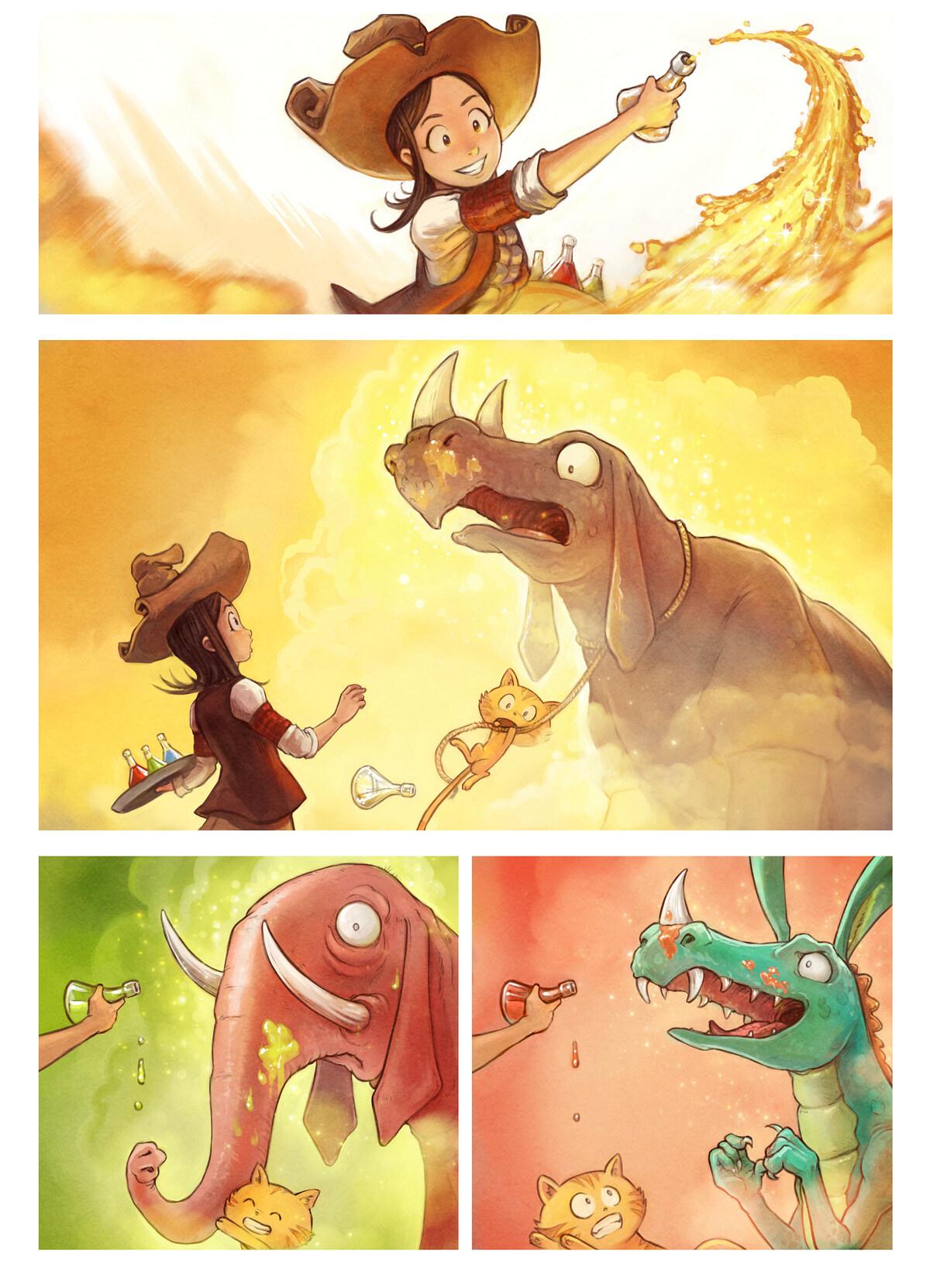 A webcomic page of Pepper&Carrot, pagbu 20 [jb], papri 4