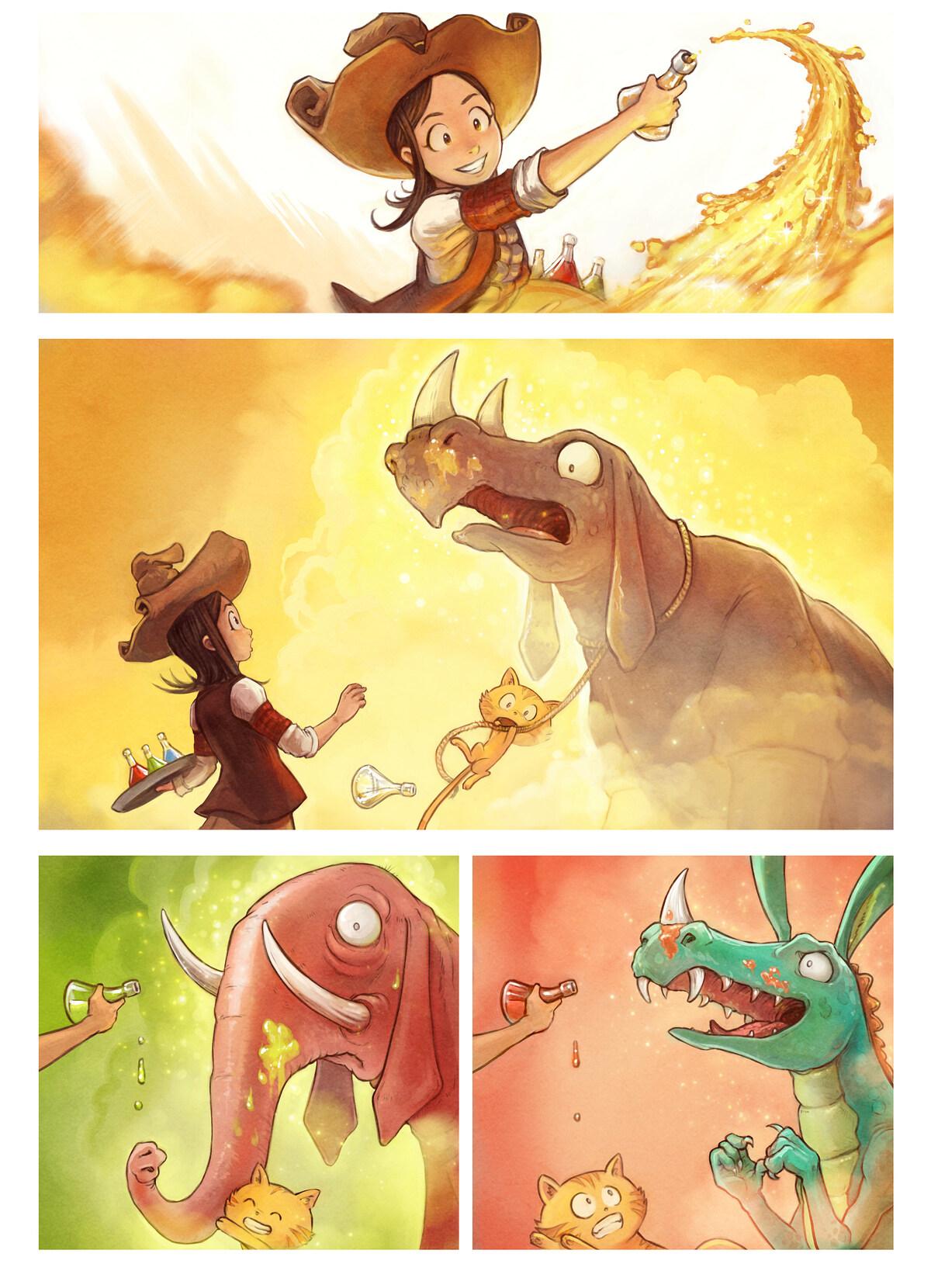 A webcomic page of Pepper&Carrot, odcinek 20 [pl], strona 4
