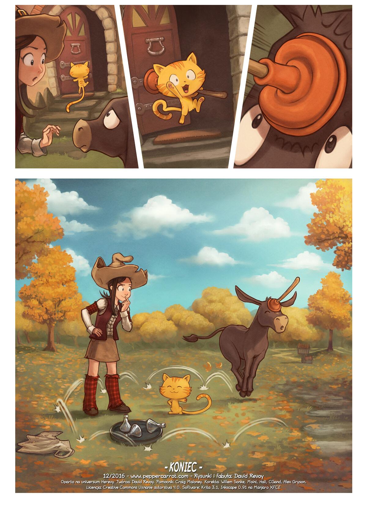 A webcomic page of Pepper&Carrot, odcinek 20 [pl], strona 6