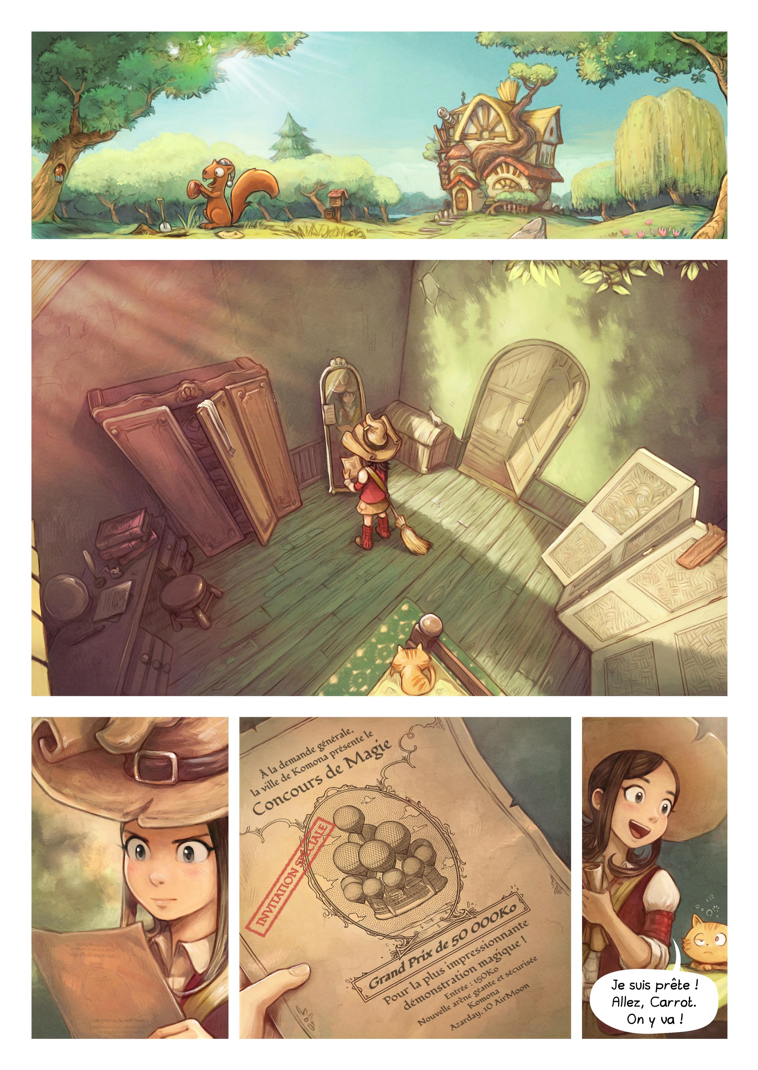 A webcomic page of Pepper&Carrot, épisode 21 [fr], page 1