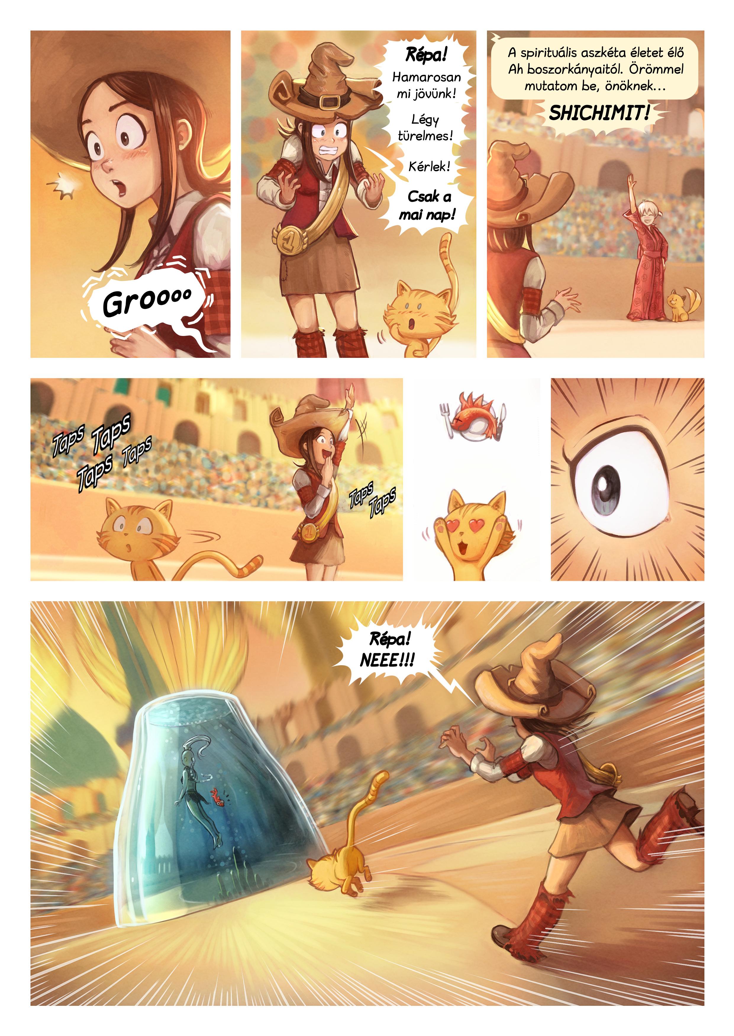 A webcomic page of Pepper&Carrot, epizód 21 [hu], oldal 5