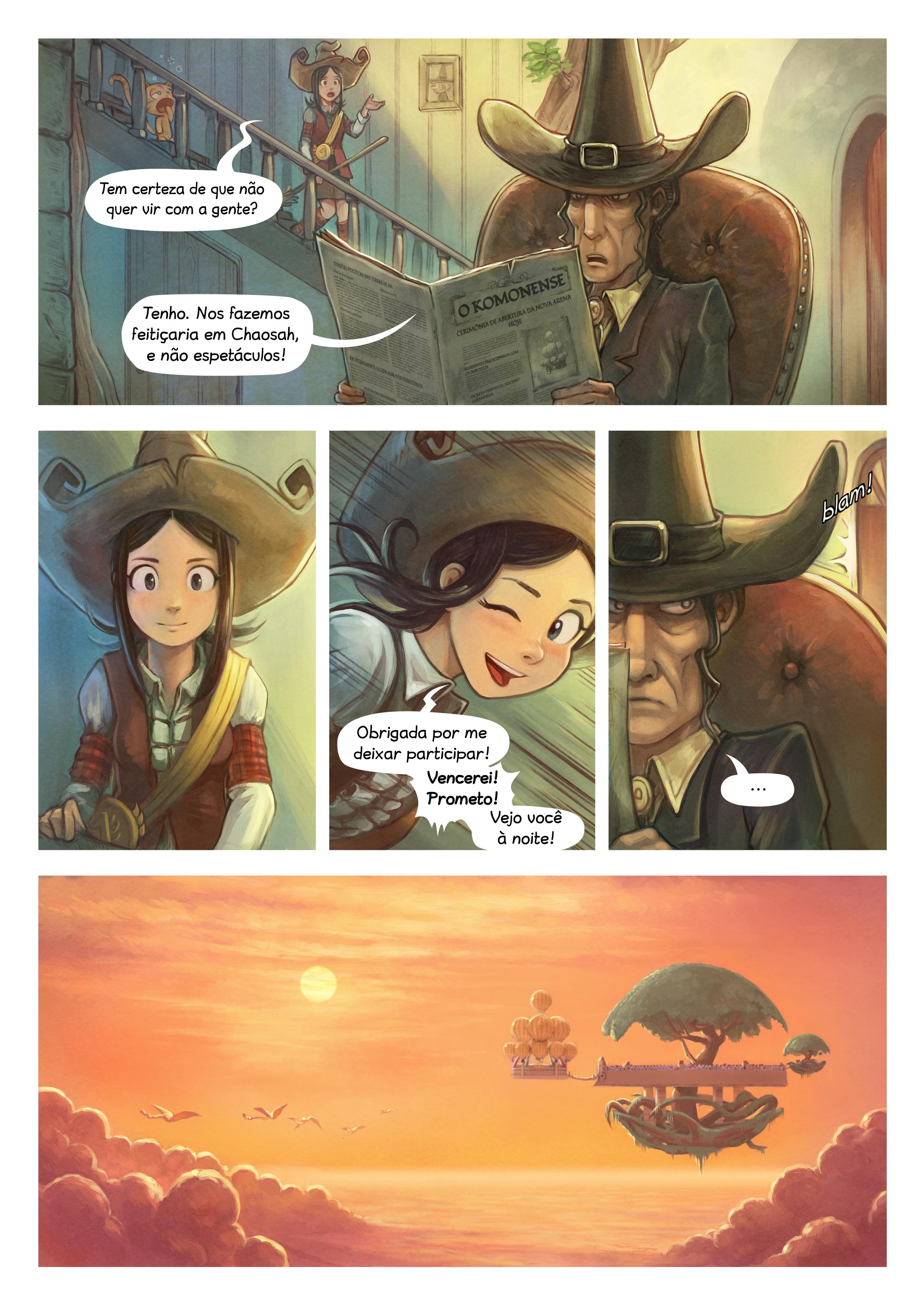 A webcomic page of Pepper&Carrot, episódio 21 [pt], página 2