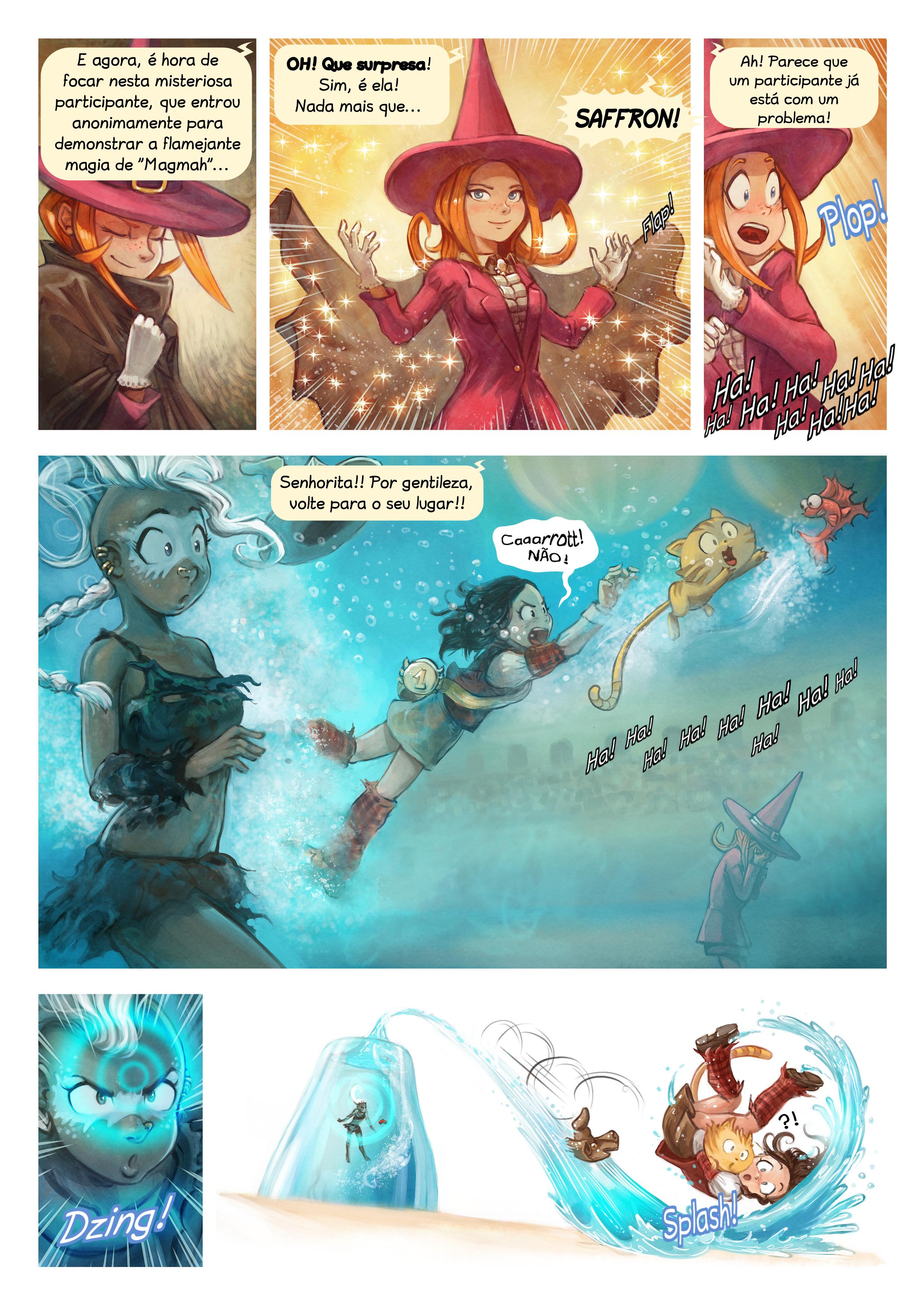 A webcomic page of Pepper&Carrot, episódio 21 [pt], página 6