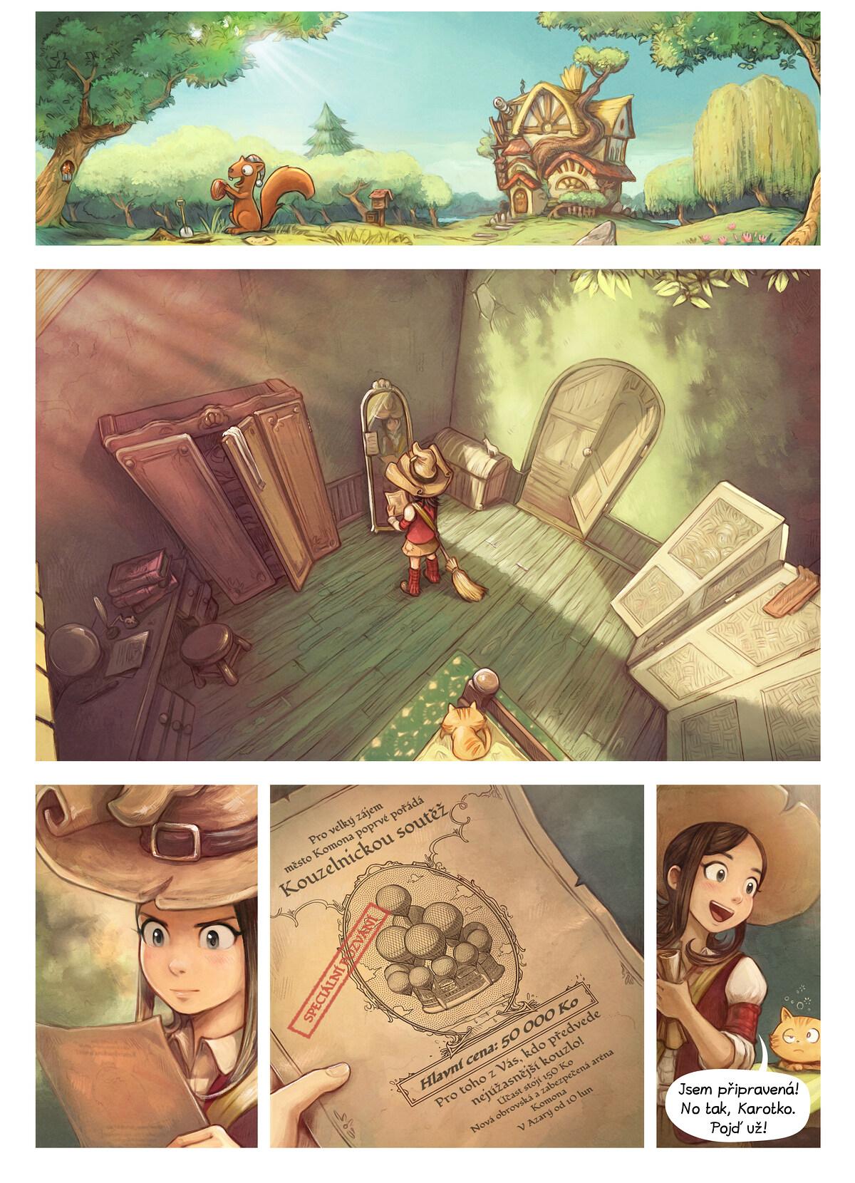 A webcomic page of Pepper&Carrot, epizoda 21 [cs], strana 1