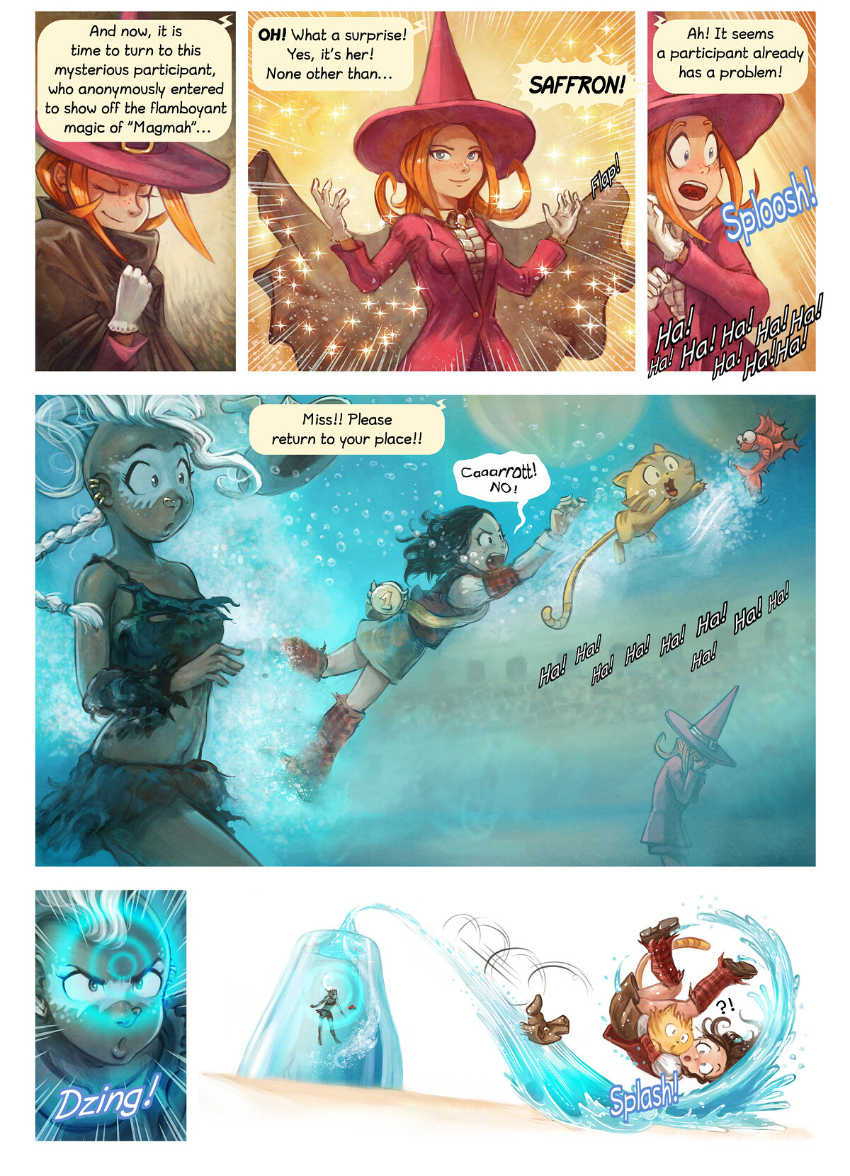 A webcomic page of Pepper&Carrot, epizód 21 [hu], oldal 6