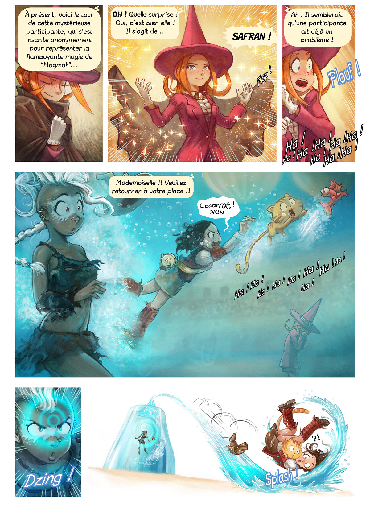 A webcomic page of Pepper&Carrot, épisode 21 [fr], page 6