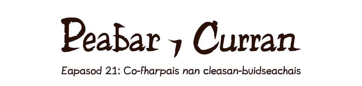 Eapasod 21: Co-fharpais nan cleasan-buidseachais