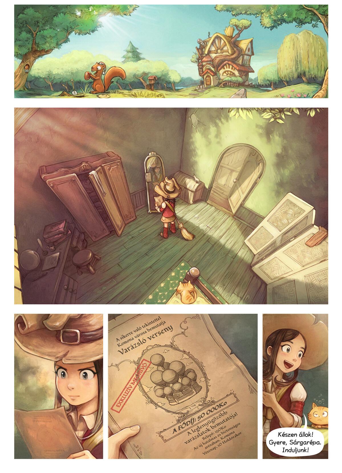 A webcomic page of Pepper&Carrot, epizód 21 [hu], oldal 1