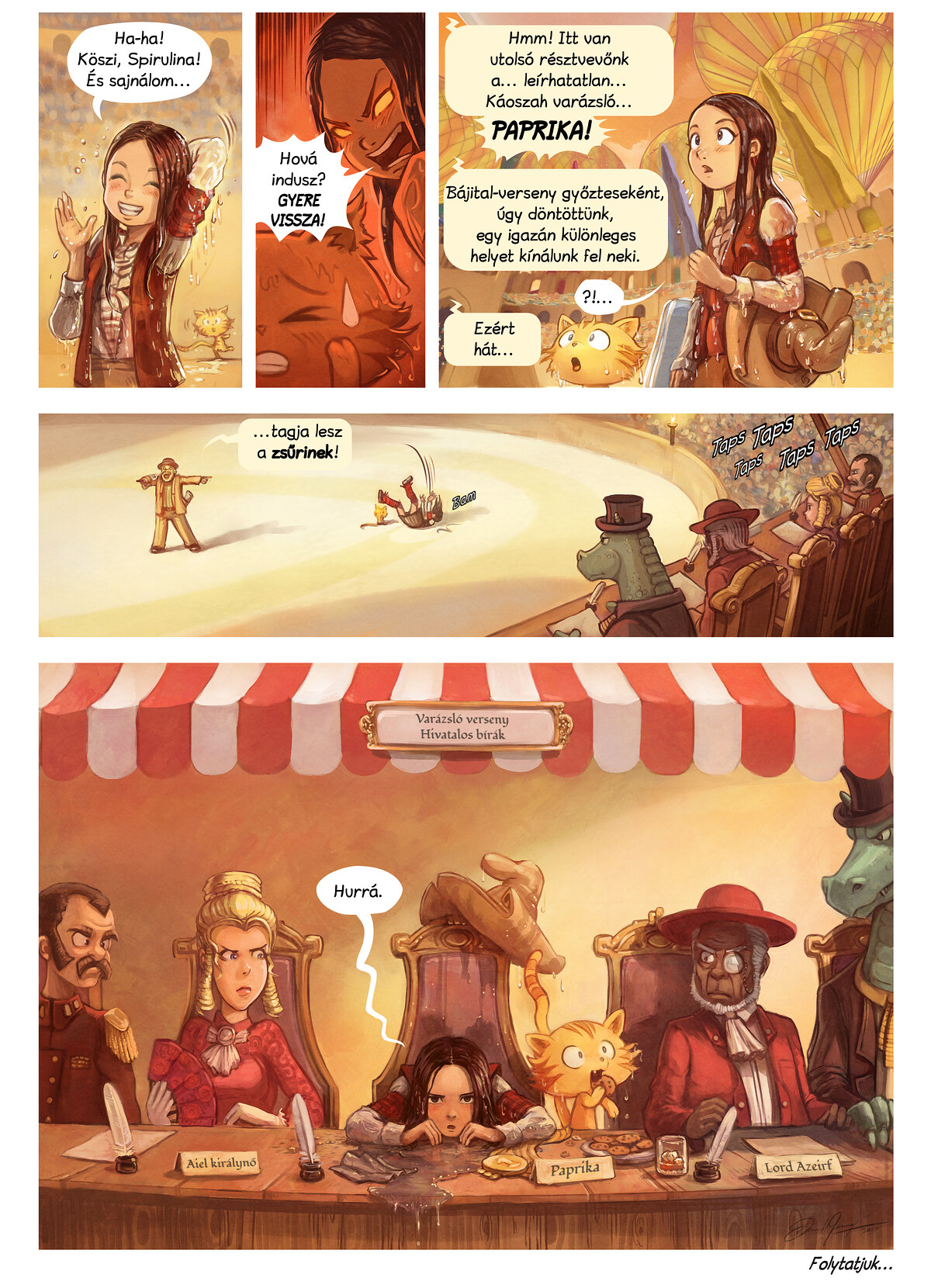 A webcomic page of Pepper&Carrot, epizód 21 [hu], oldal 7