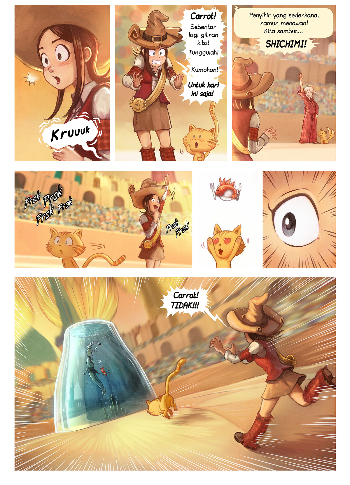 A webcomic page of Pepper&Carrot, episode 21 [id], halaman 5