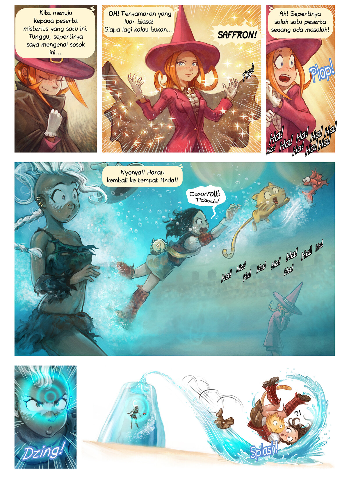 A webcomic page of Pepper&Carrot, episode 21 [id], halaman 6