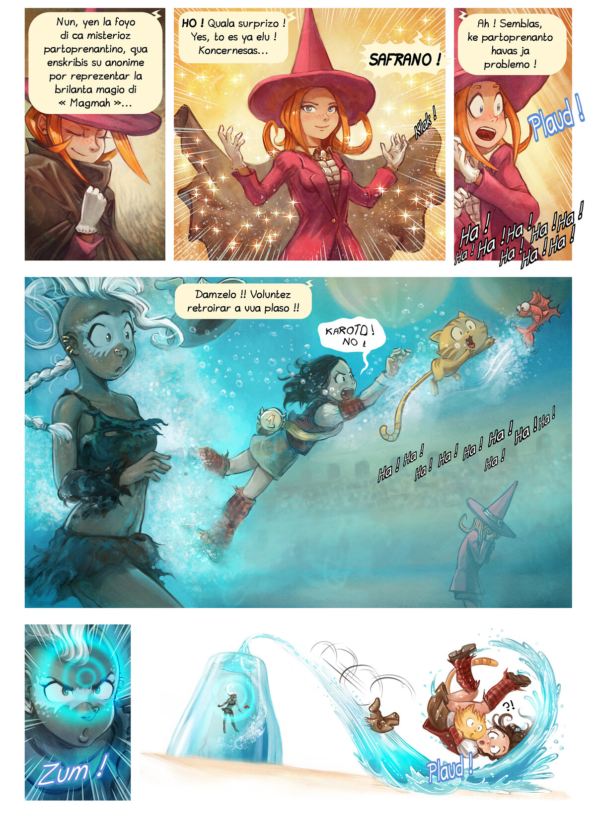 A webcomic page of Pepper&Carrot, episode 21 [io], page 6