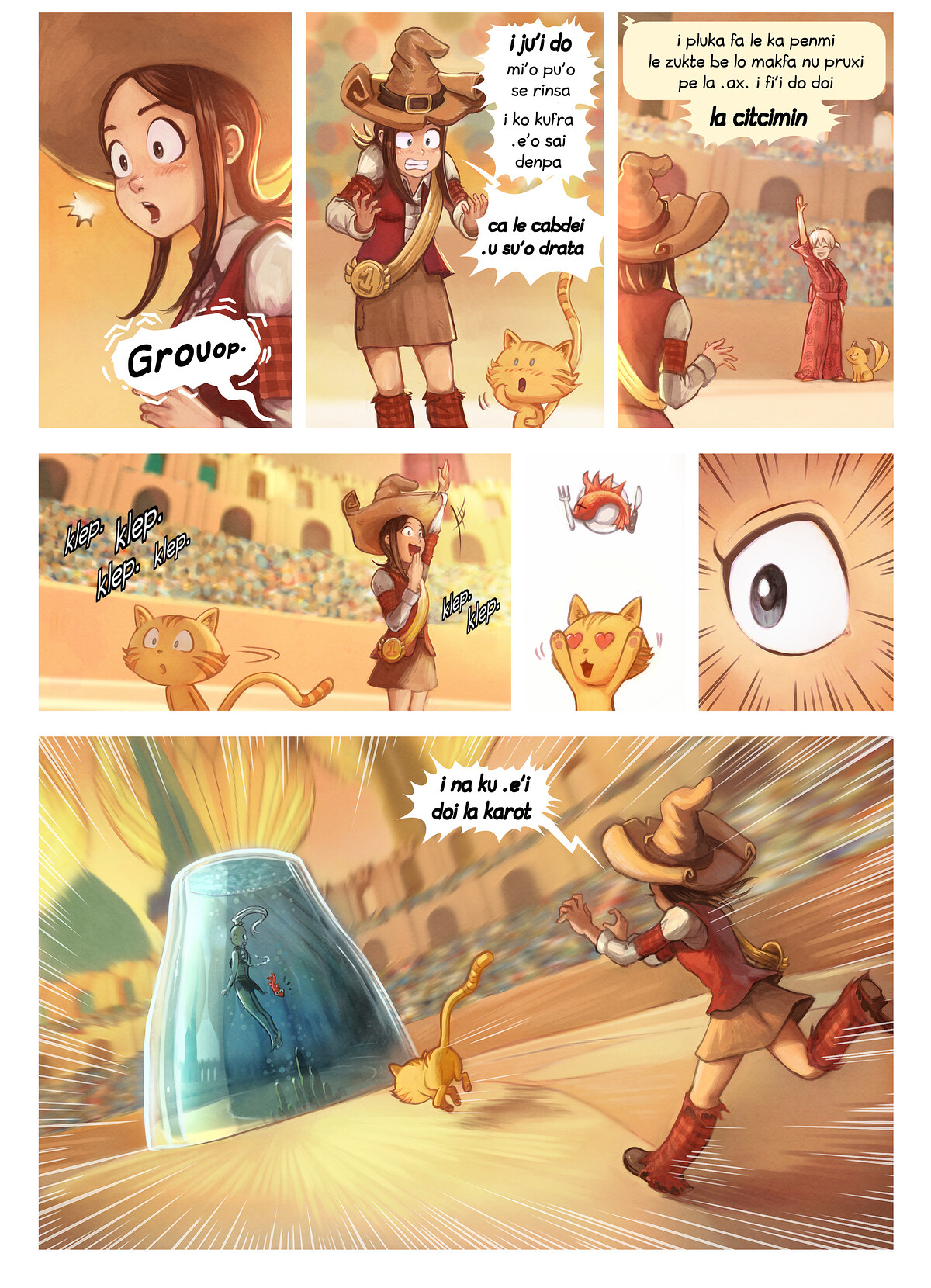 A webcomic page of Pepper&Carrot, pagbu 21 [jb], papri 5