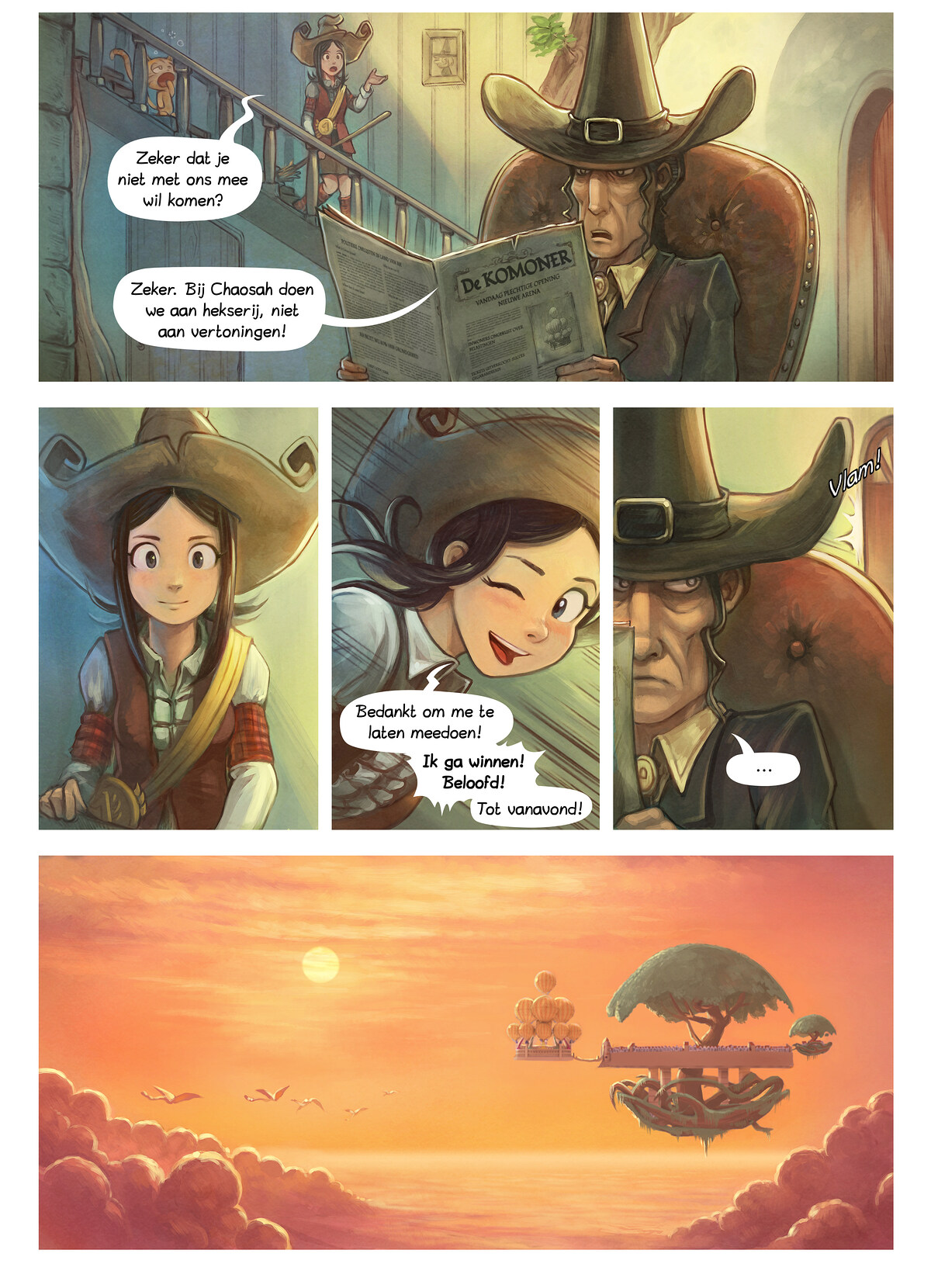 A webcomic page of Pepper&Carrot, aflevering 21 [nl], pagina 2