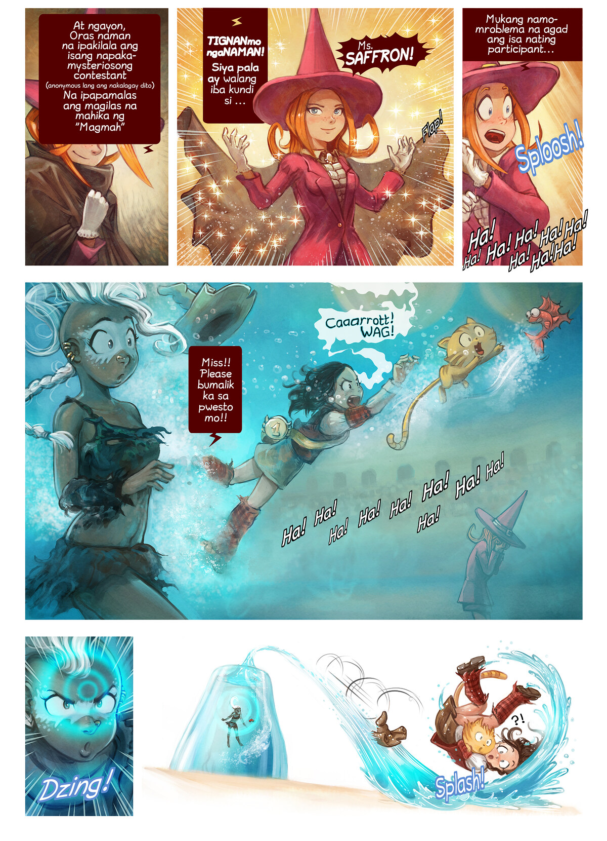 A webcomic page of Pepper&Carrot, episode 21 [ph], page 6