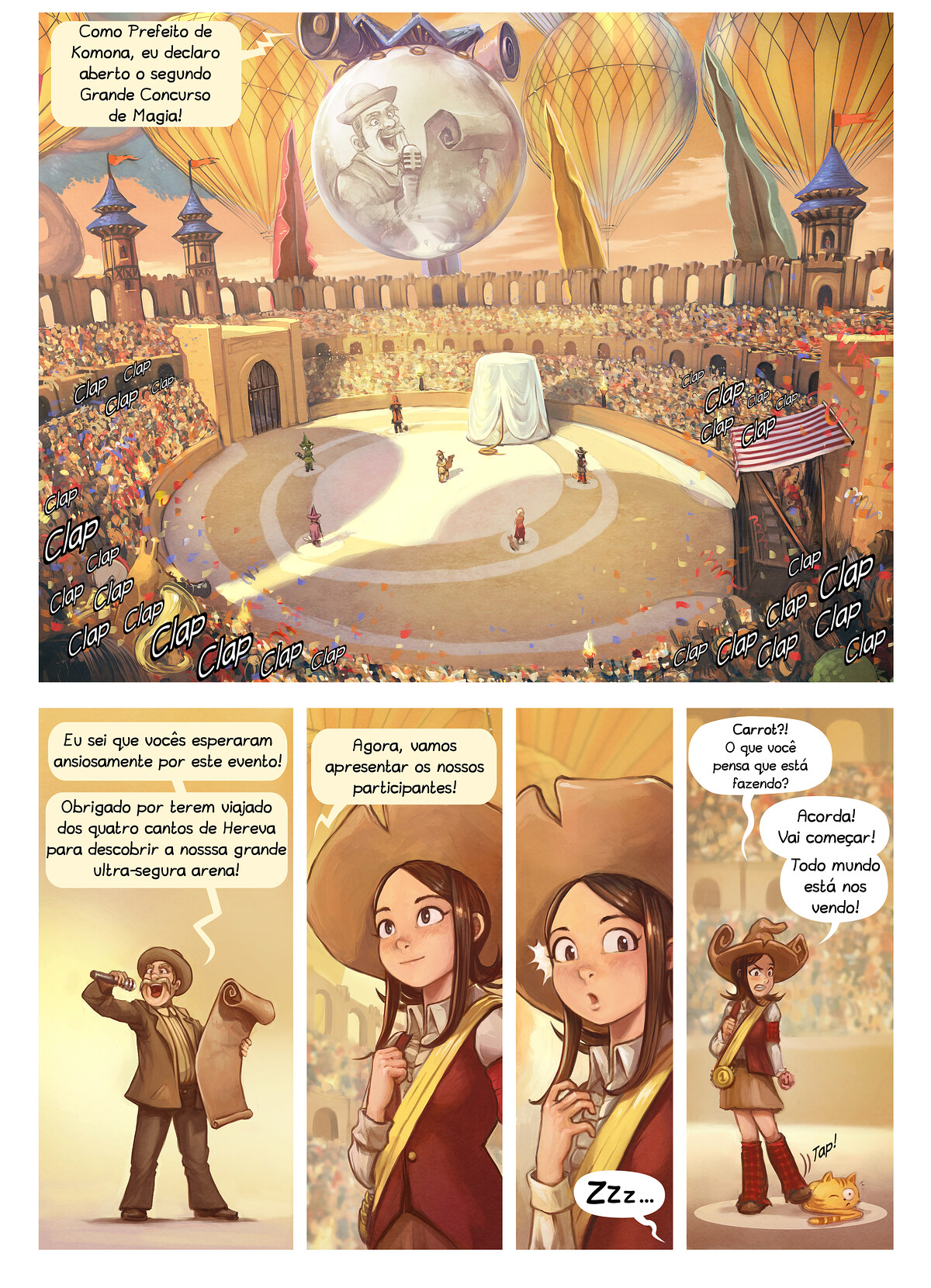 A webcomic page of Pepper&Carrot, episódio 21 [pt], página 3
