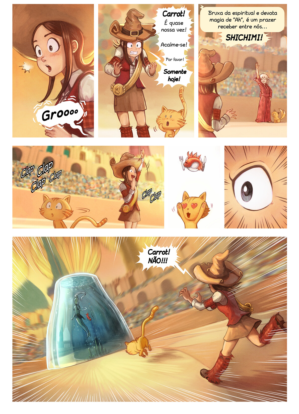 A webcomic page of Pepper&Carrot, episódio 21 [pt], página 5