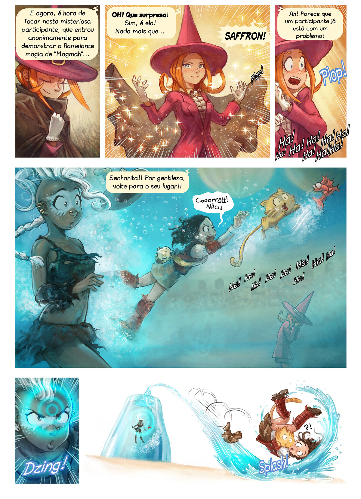 A webcomic page of Pepper&Carrot, episódio 21 [pt], página 6