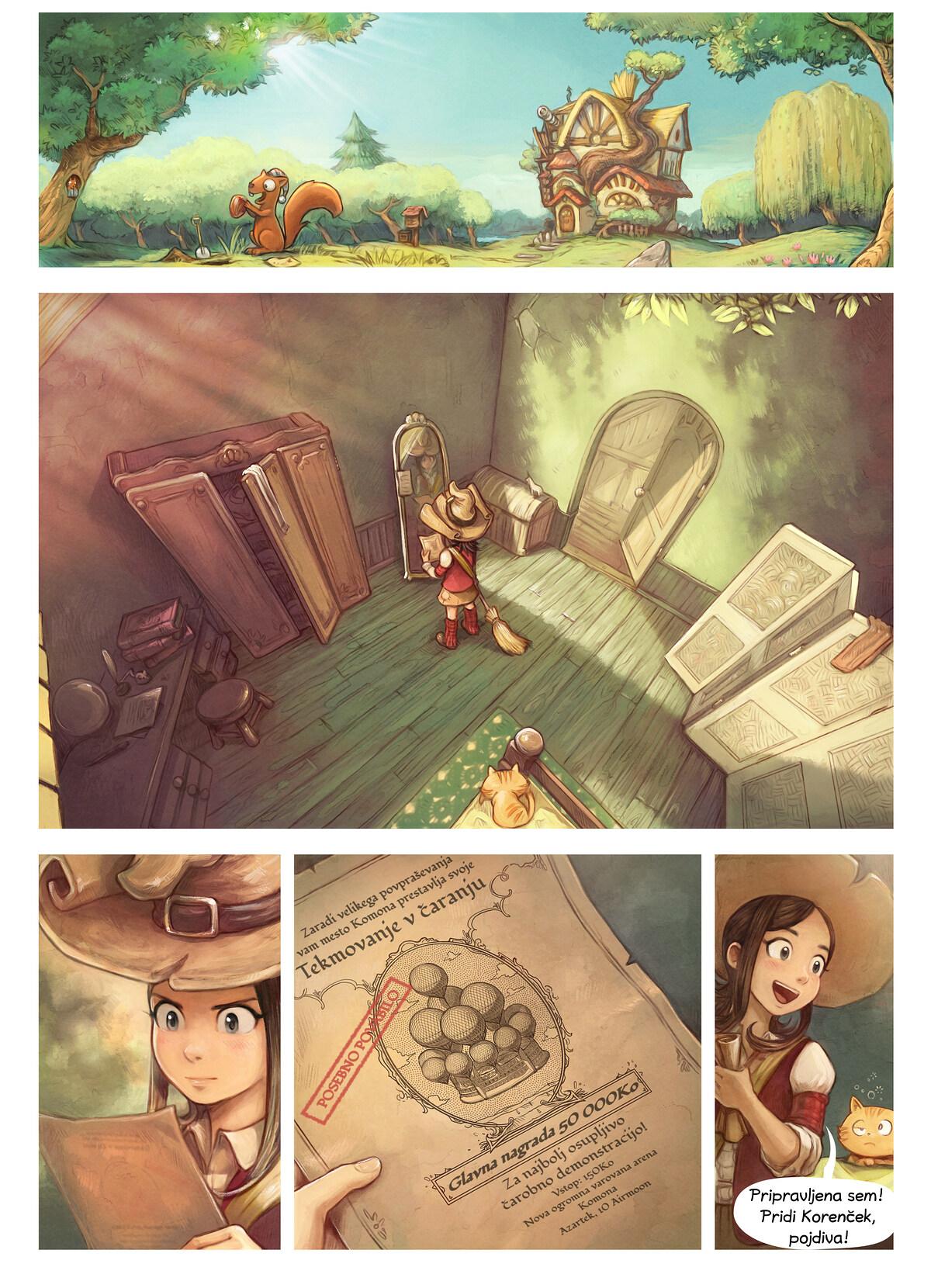 Epizoda 21: Tekmovanje v čaranju, Page 1