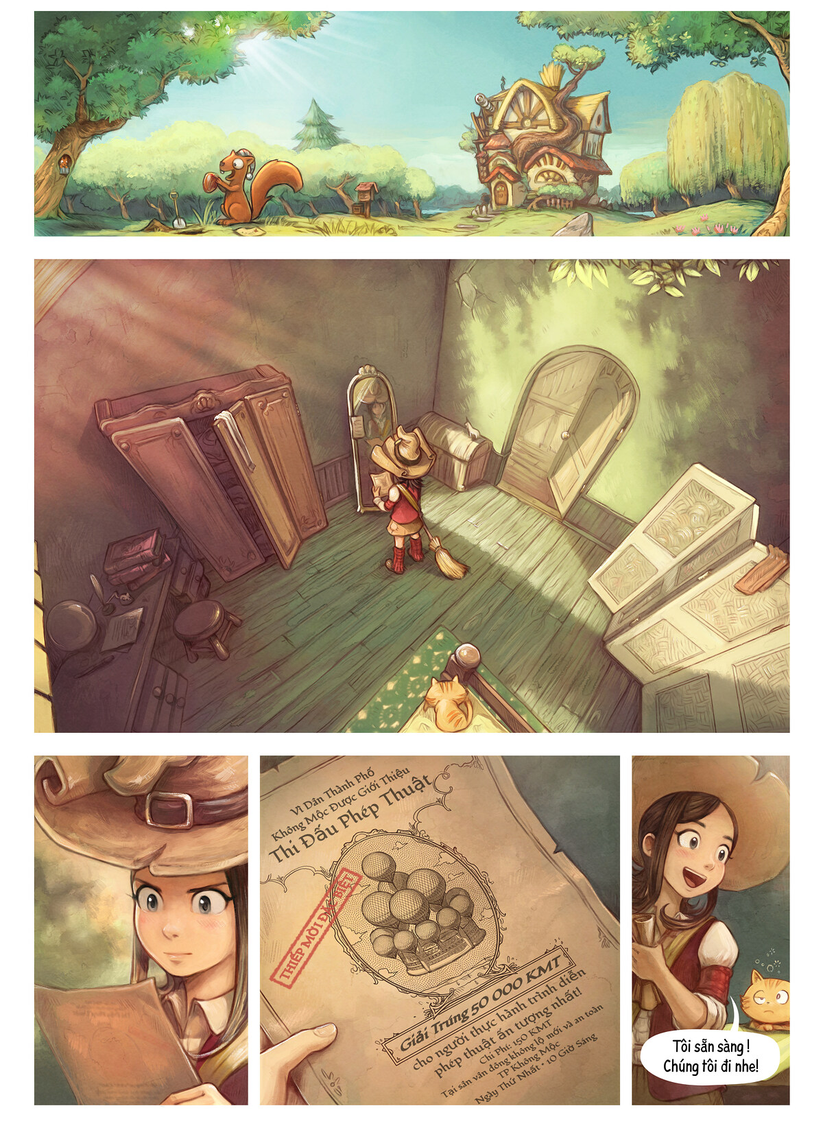 A webcomic page of Pepper&Carrot, Tập 21 [vi], trang 1