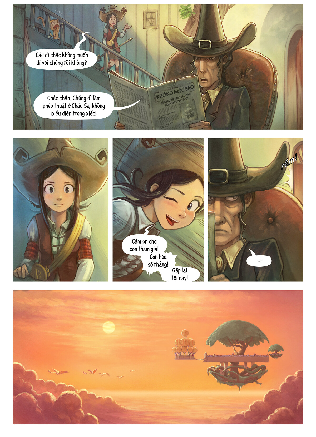 A webcomic page of Pepper&Carrot, Tập 21 [vi], trang 2