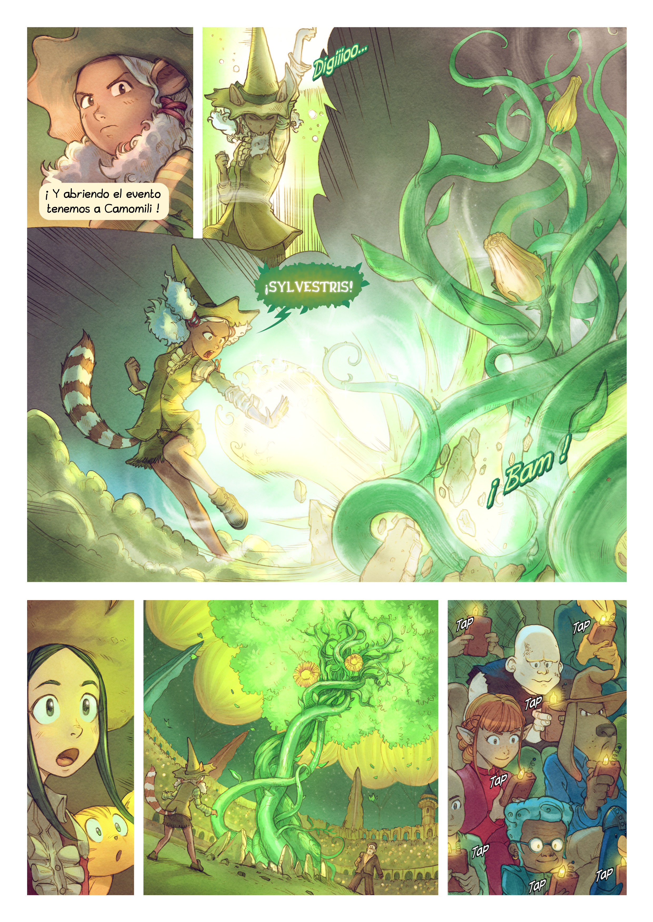 A webcomic page of Pepper&Carrot, episode 22 [mx], page 5