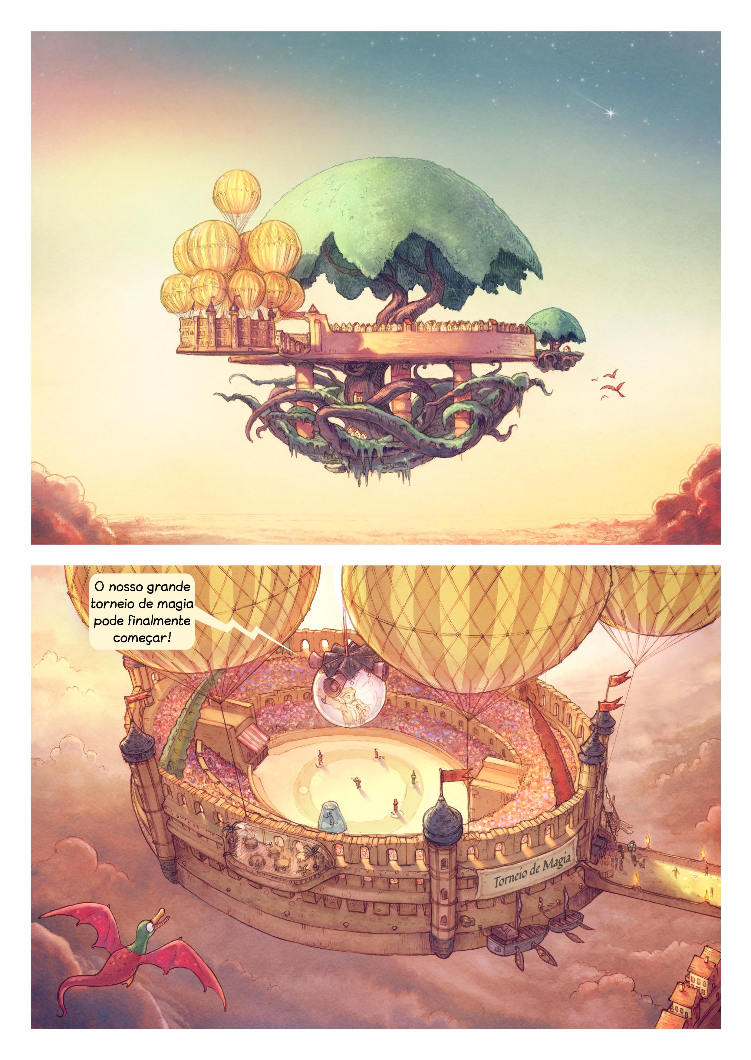 A webcomic page of Pepper&Carrot, episódio 22 [pt], página 1