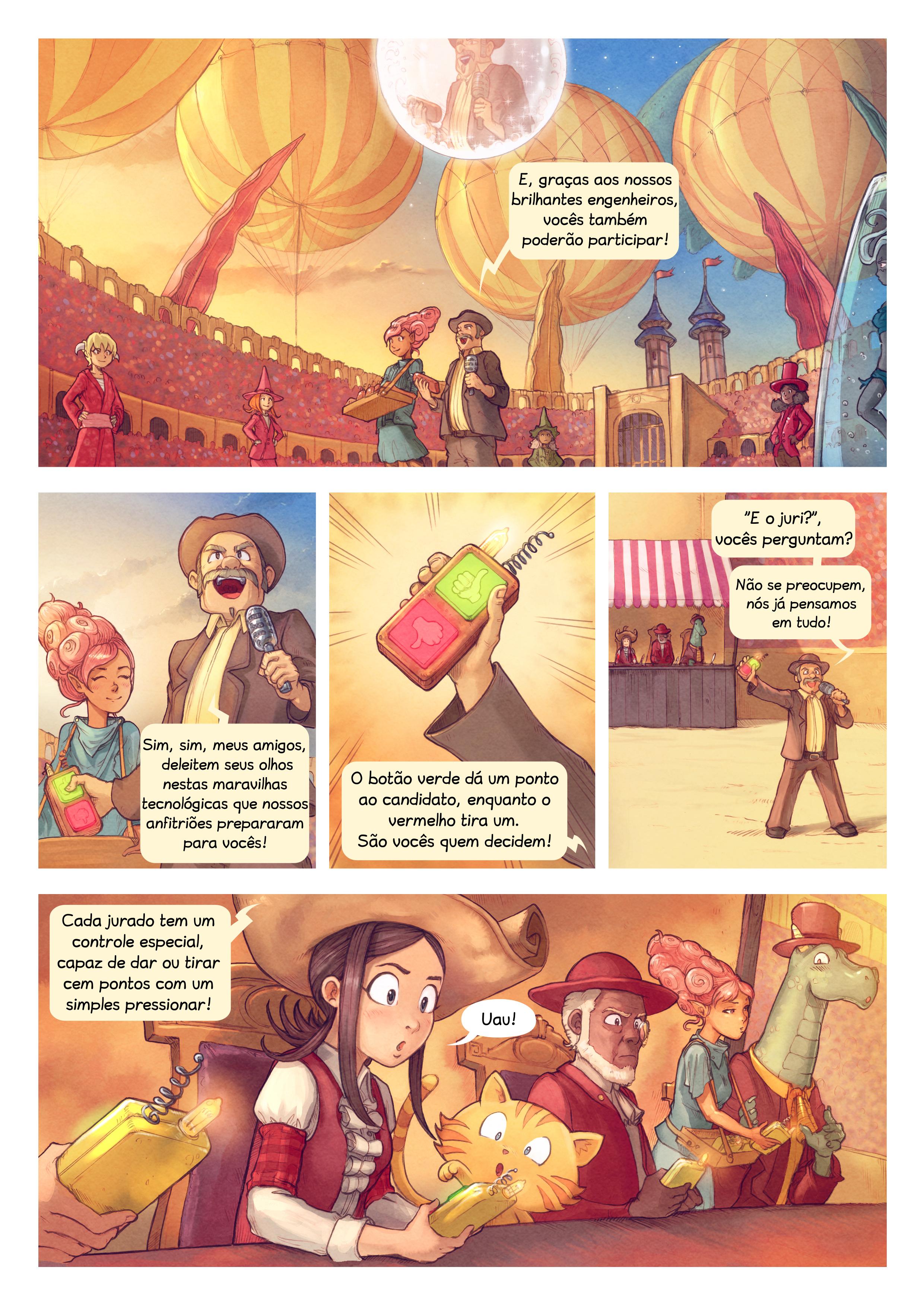A webcomic page of Pepper&Carrot, episódio 22 [pt], página 2