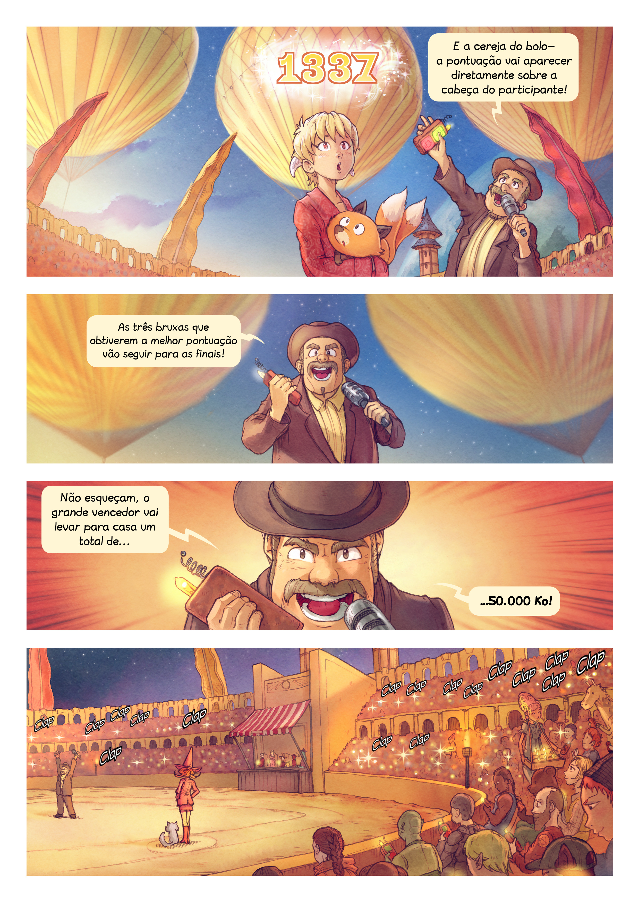A webcomic page of Pepper&Carrot, episódio 22 [pt], página 3