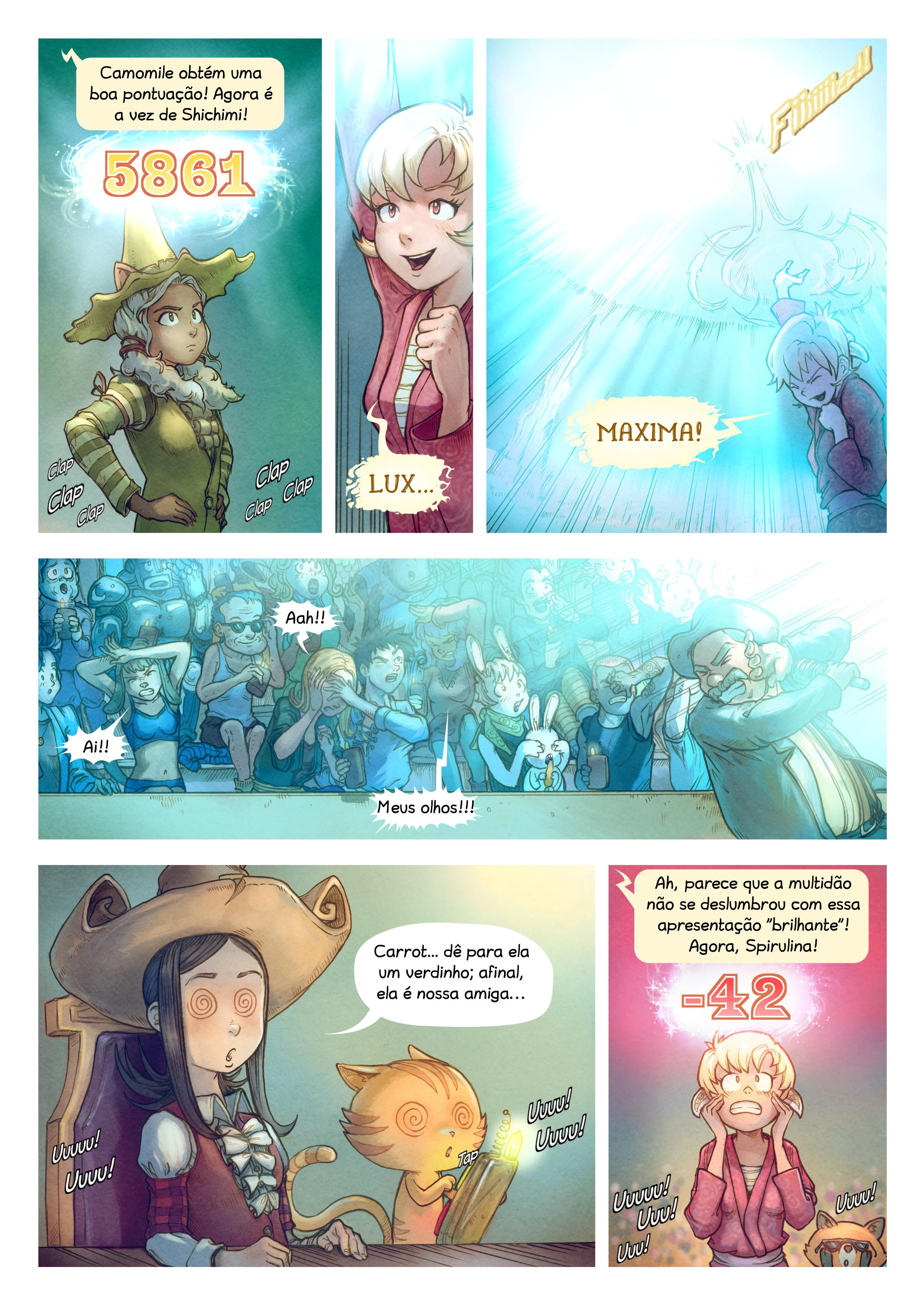 A webcomic page of Pepper&Carrot, episódio 22 [pt], página 6