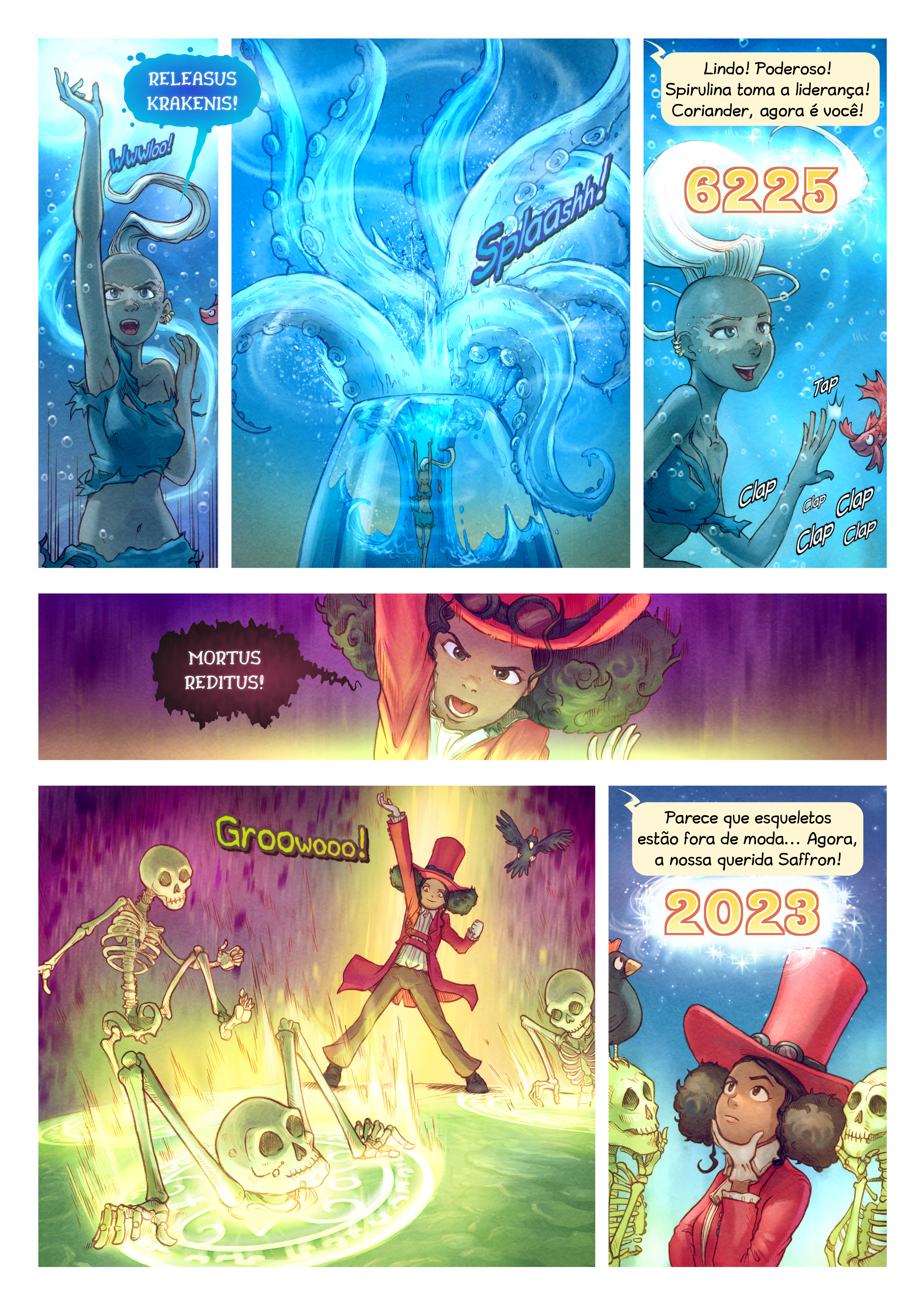 A webcomic page of Pepper&Carrot, episódio 22 [pt], página 7