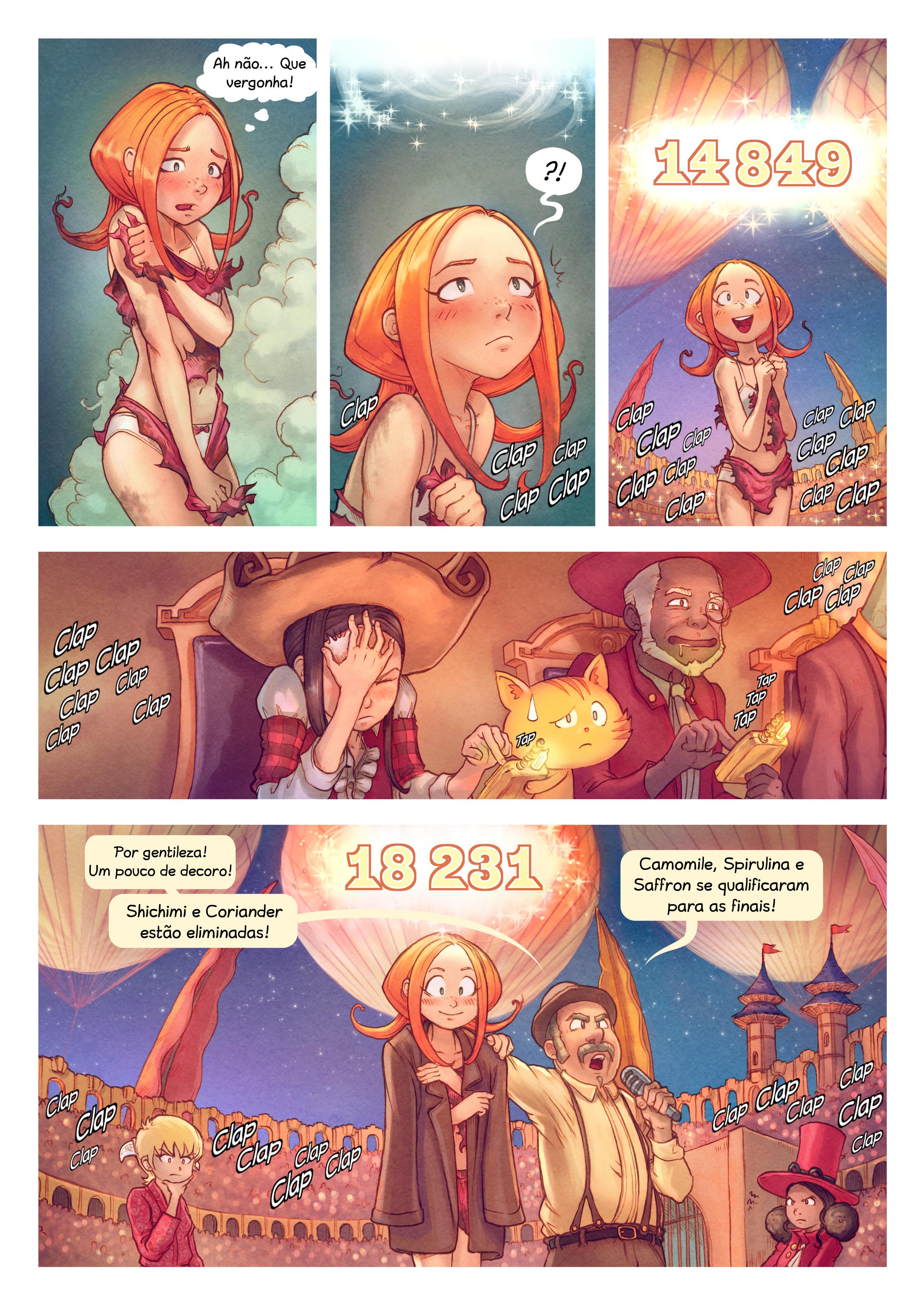 A webcomic page of Pepper&Carrot, episódio 22 [pt], página 9