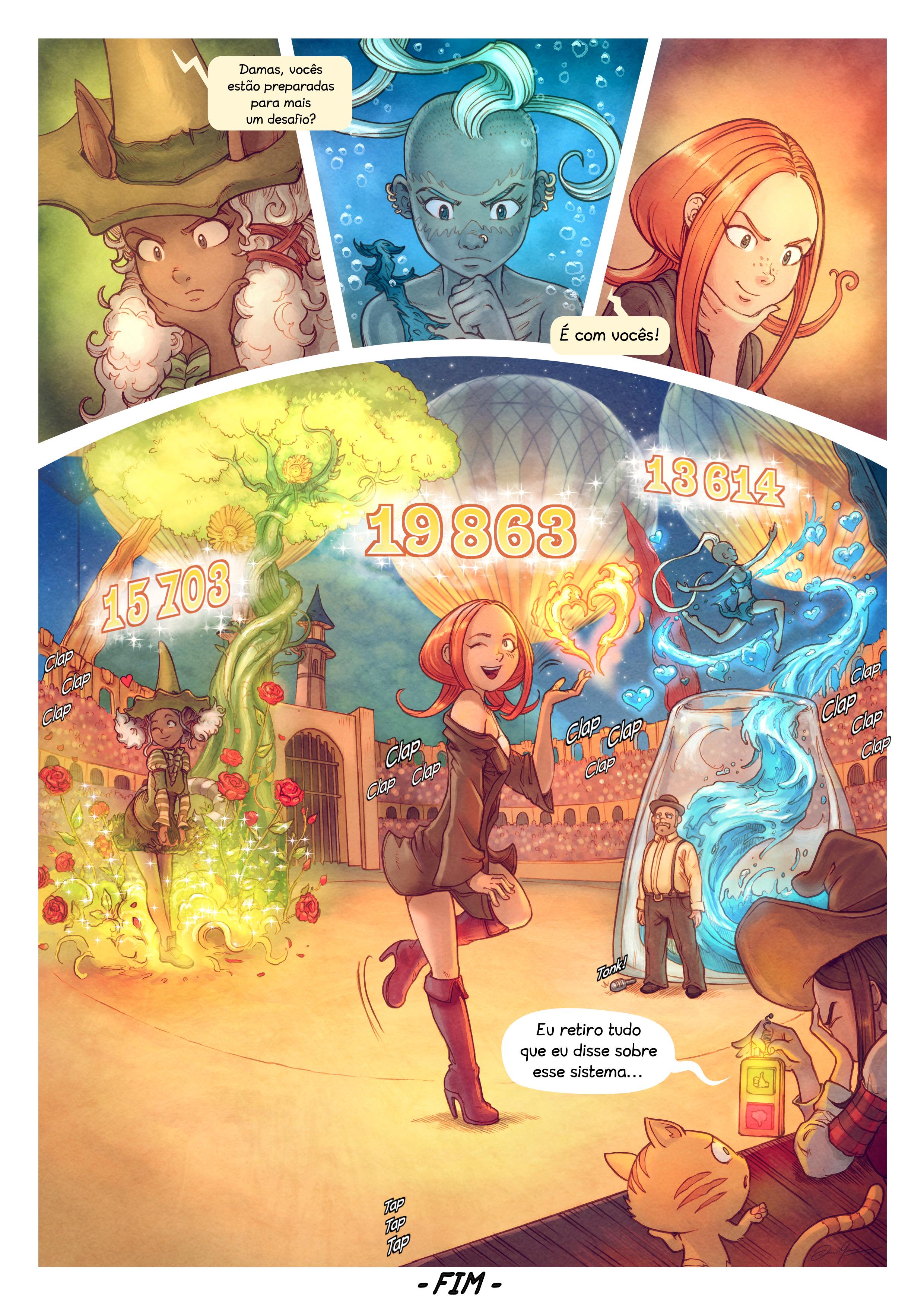 A webcomic page of Pepper&Carrot, episódio 22 [pt], página 10