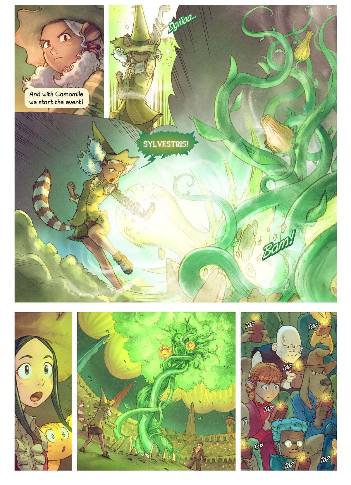 A webcomic page of Pepper&Carrot, epizód 22 [hu], oldal 5