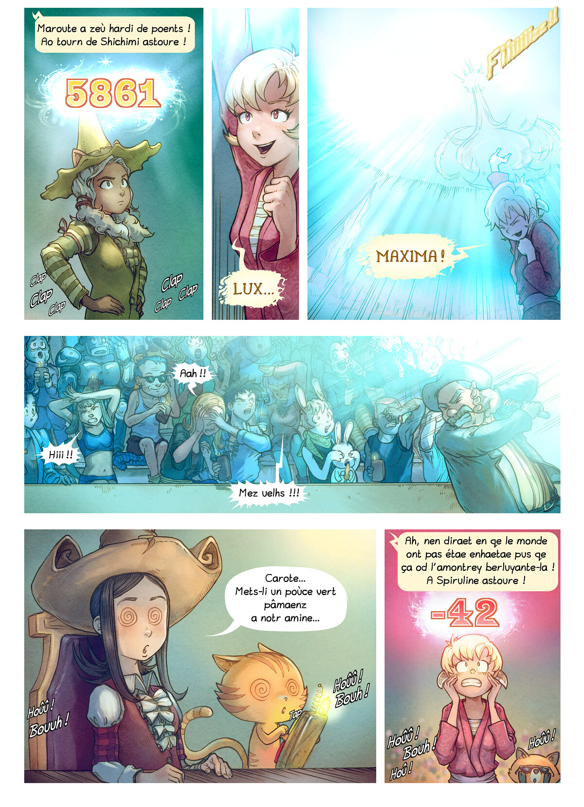 A webcomic page of Pepper&Carrot, episode 22 [go], page 6