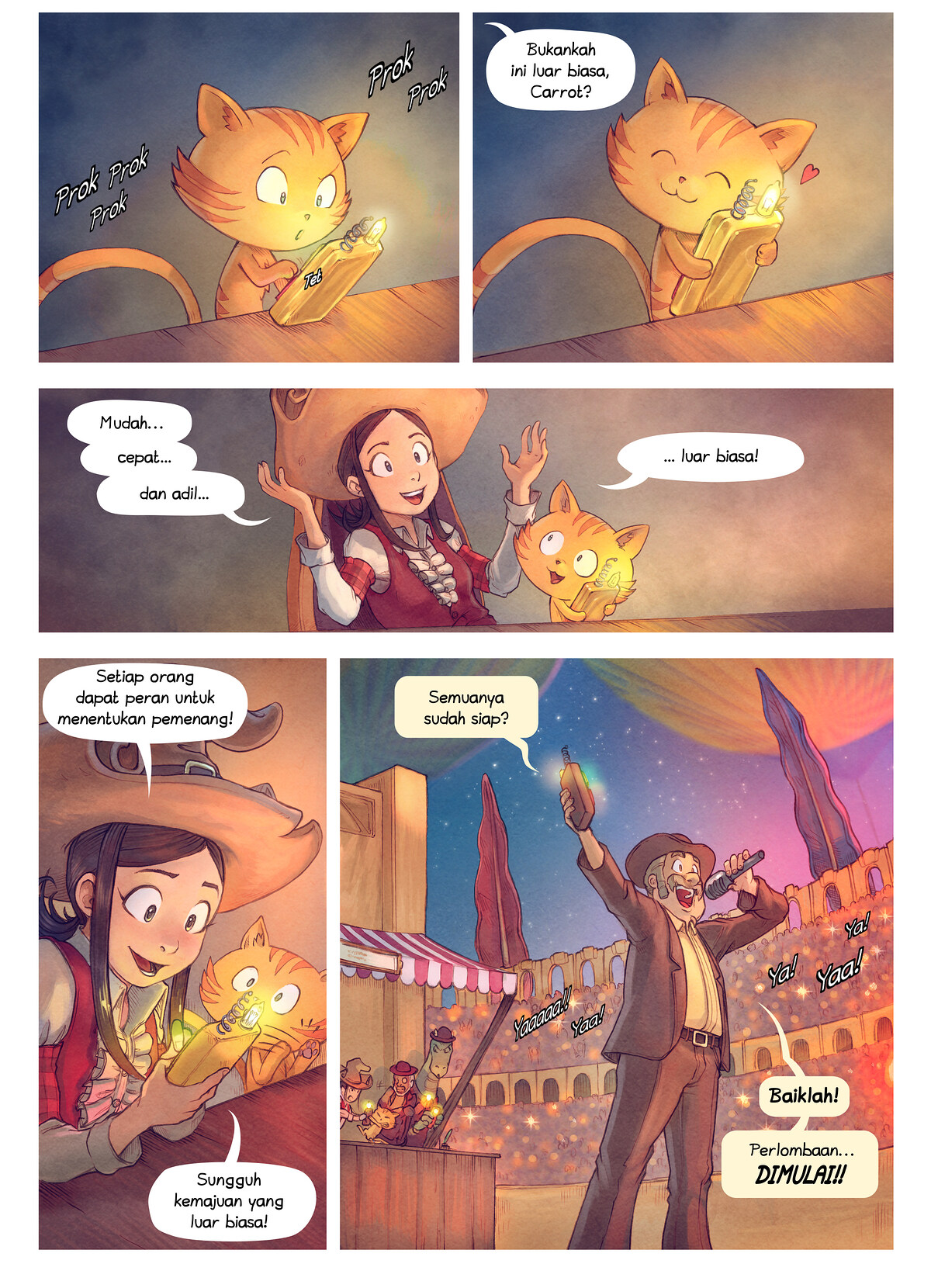 A webcomic page of Pepper&Carrot, episode 22 [id], halaman 4