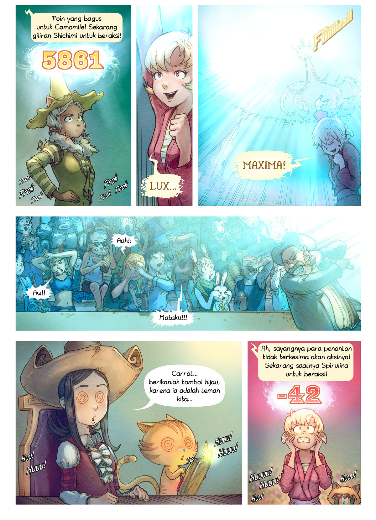 A webcomic page of Pepper&Carrot, episode 22 [id], halaman 6
