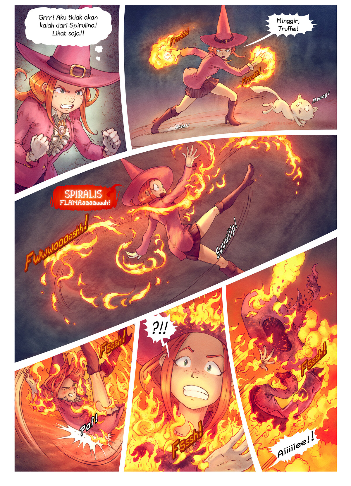 A webcomic page of Pepper&Carrot, episode 22 [id], halaman 8