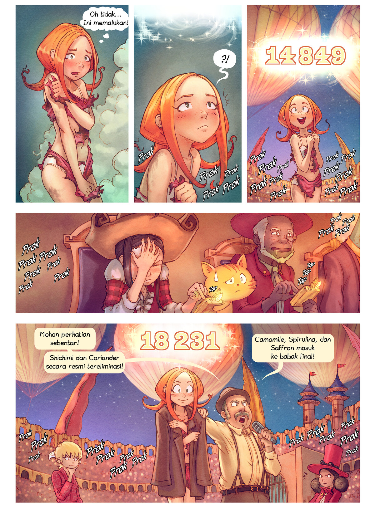 A webcomic page of Pepper&Carrot, episode 22 [id], halaman 9