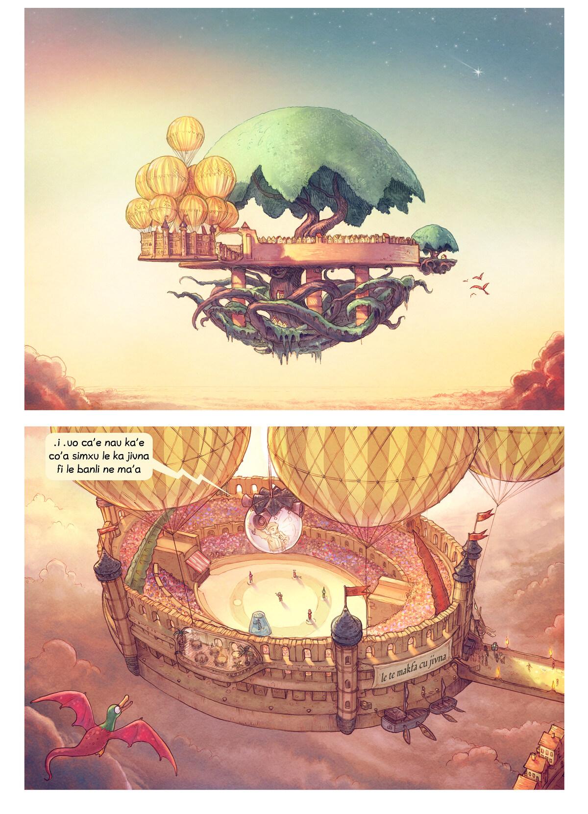 A webcomic page of Pepper&Carrot, pagbu 22 [jb], papri 1