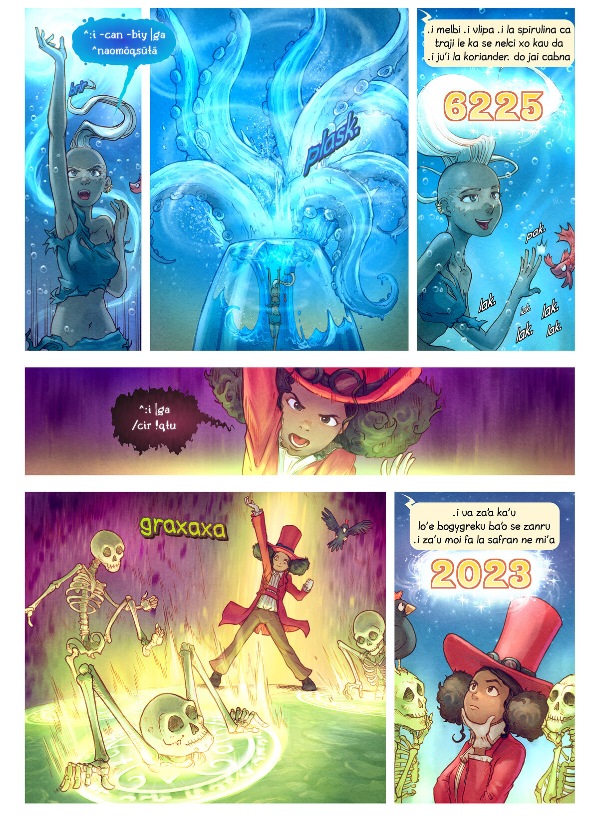A webcomic page of Pepper&Carrot, pagbu 22 [jb], papri 7