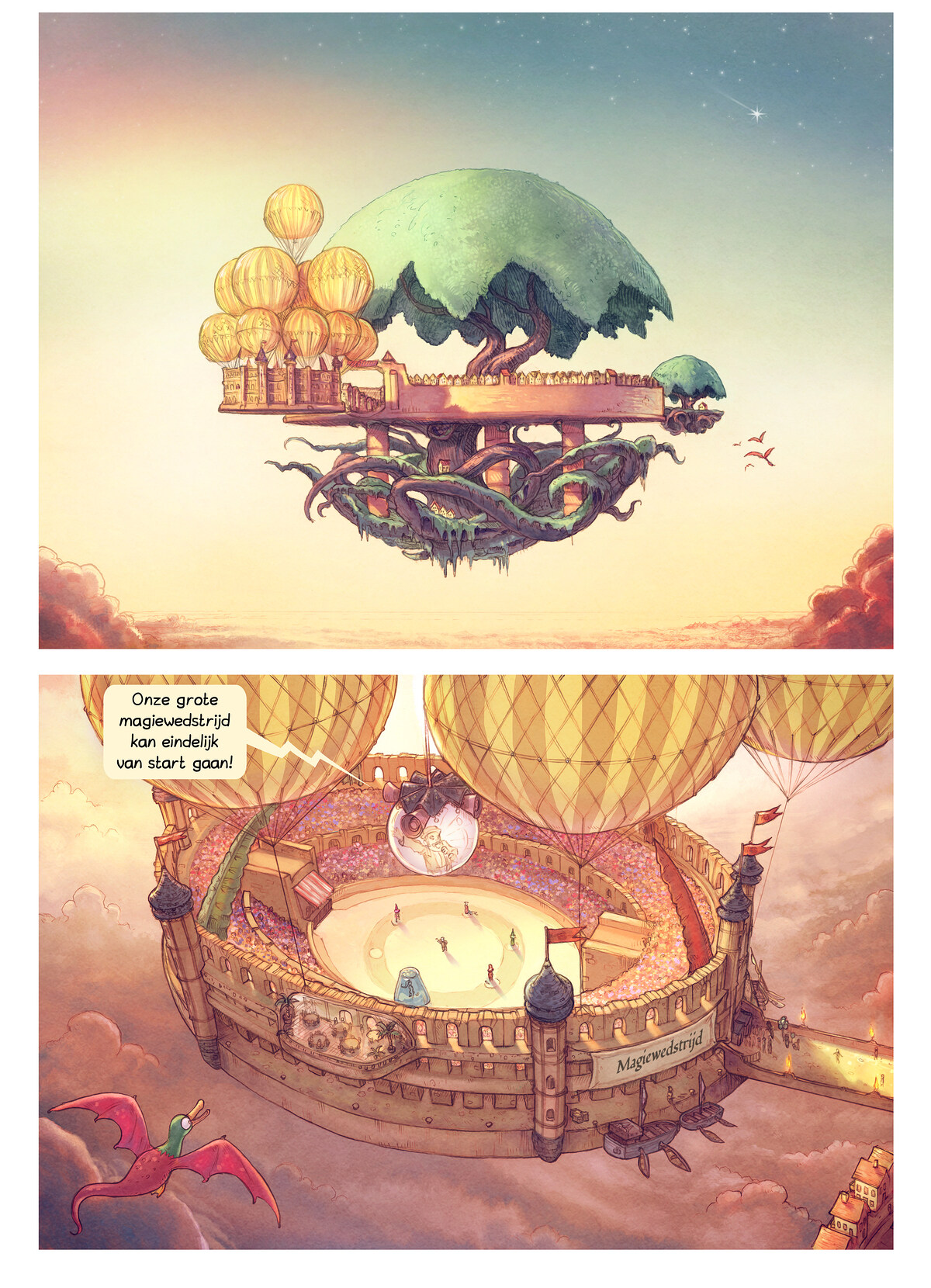 A webcomic page of Pepper&Carrot, aflevering 22 [nl], pagina 1