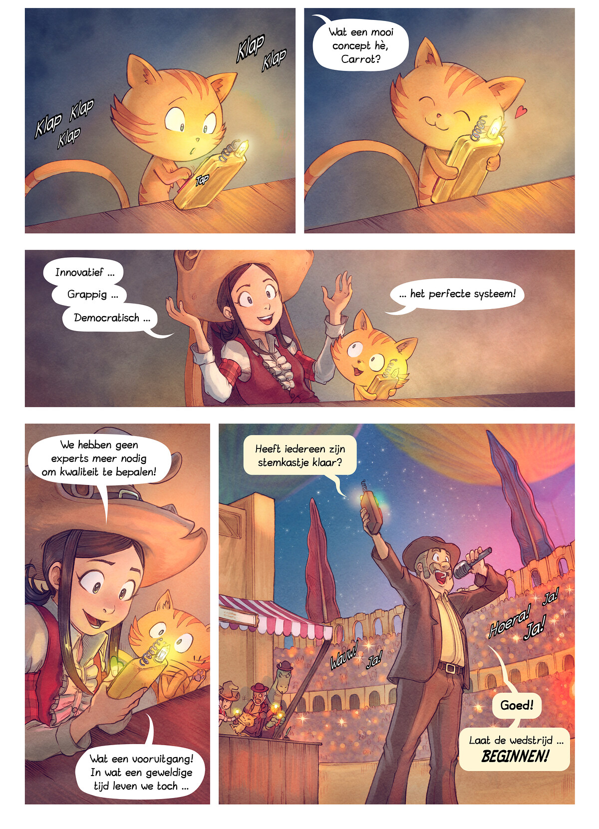 A webcomic page of Pepper&Carrot, aflevering 22 [nl], pagina 4
