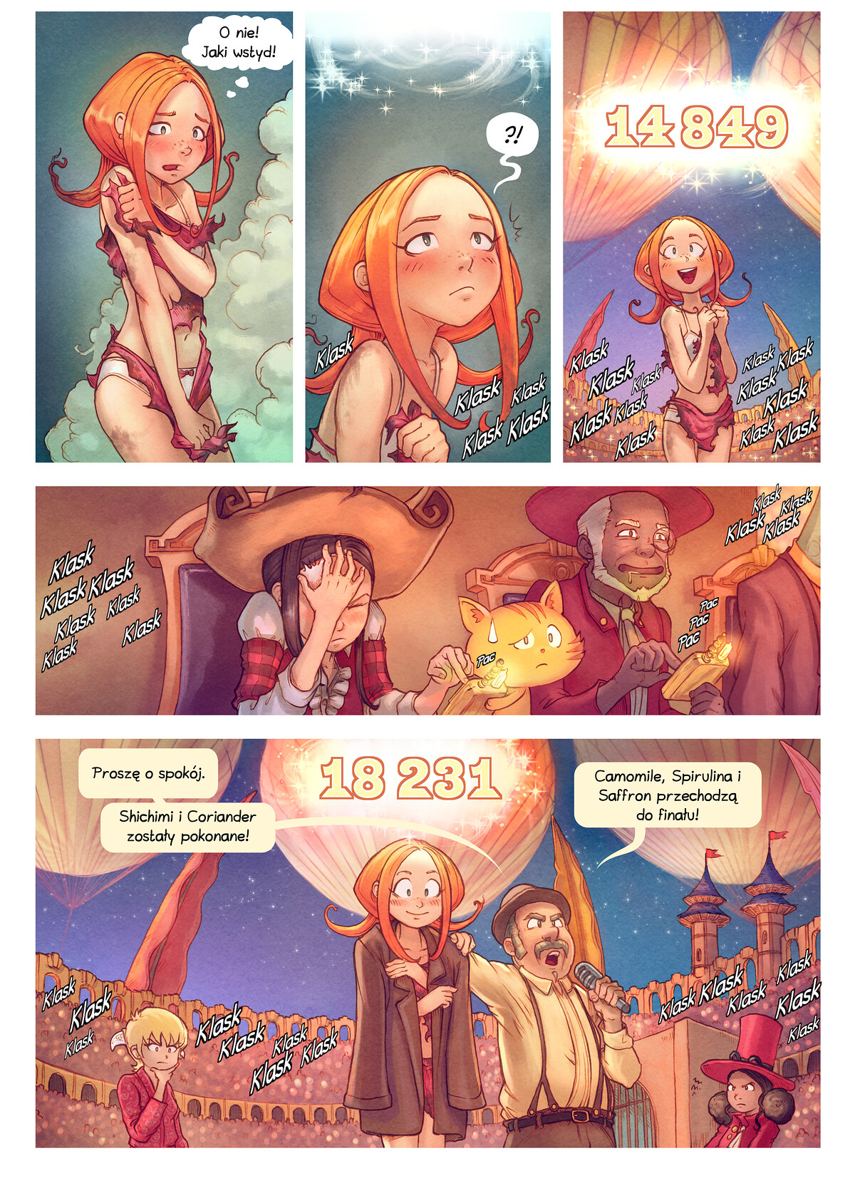 A webcomic page of Pepper&Carrot, odcinek 22 [pl], strona 9