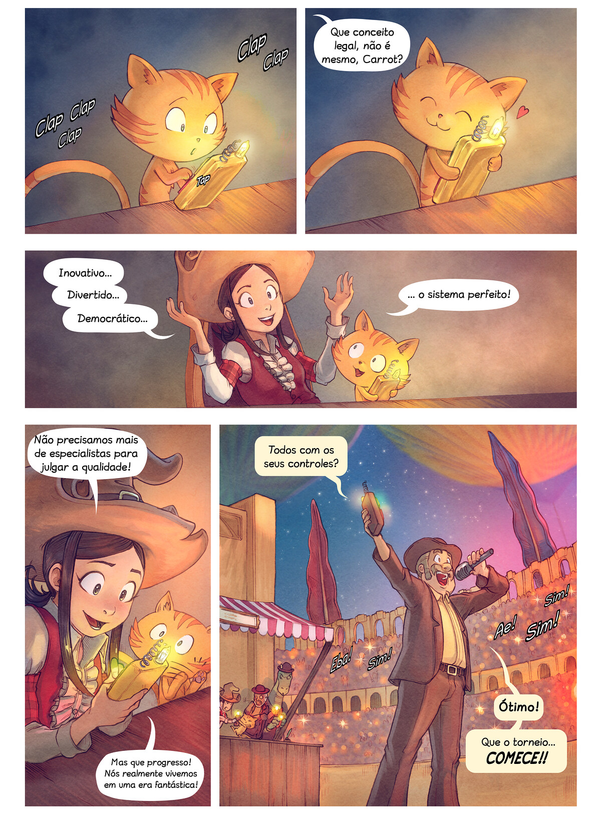 A webcomic page of Pepper&Carrot, episódio 22 [pt], página 4