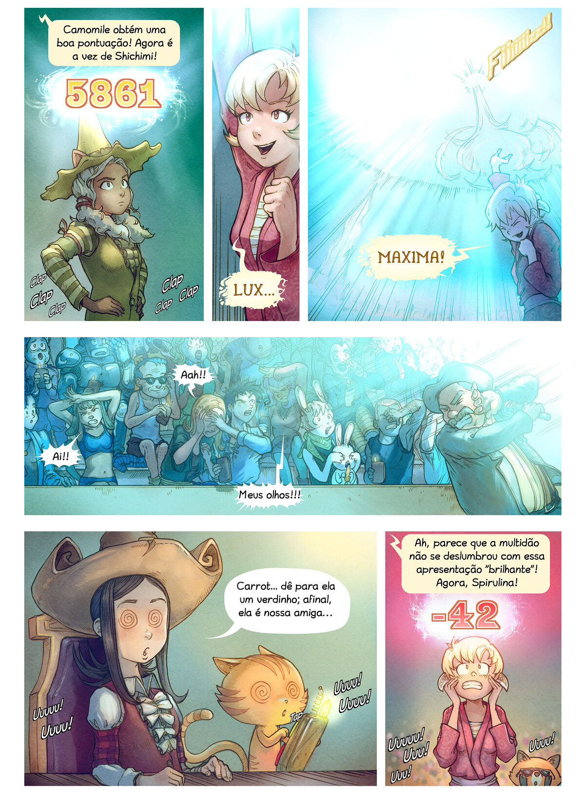 A webcomic page of Pepper&Carrot, episódio 22 [pt], página 6
