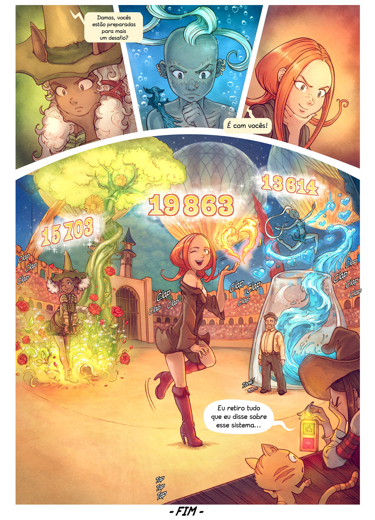 A webcomic page of Pepper&Carrot, episódio 22 [pt], página 10